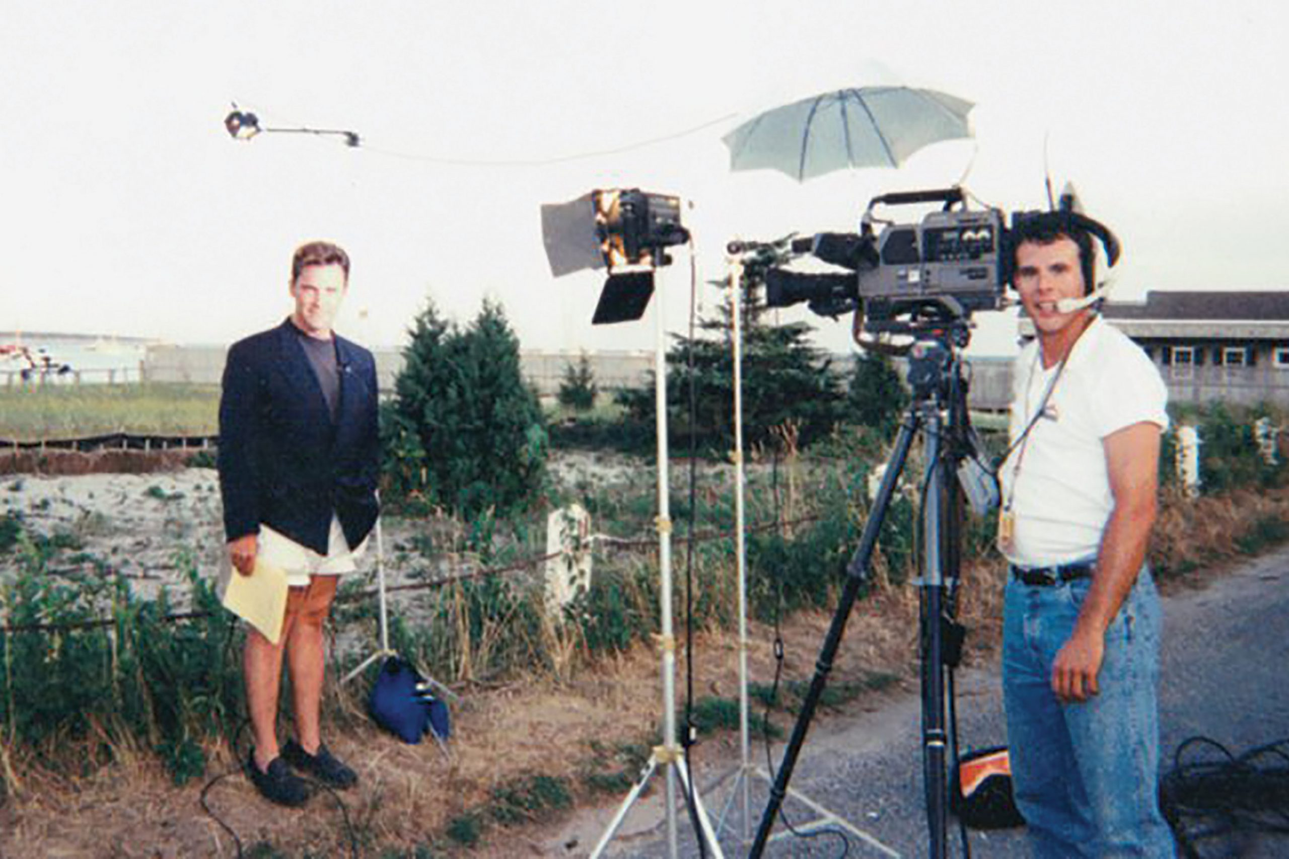 in Cape Cod covering the ill-fated search for the missing airplane of JFK Jr.; Photo courtesy Mike Watkiss