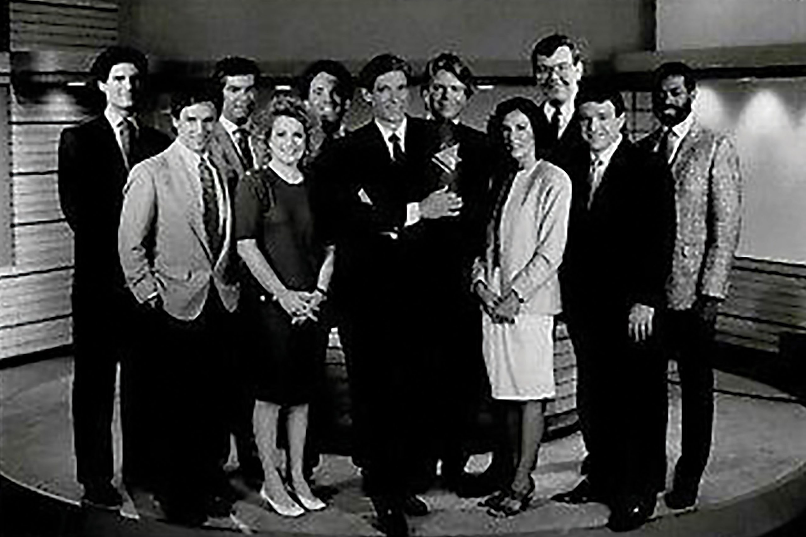 with the A Current Affair crew, circa 1986; Photo by Michael Smith