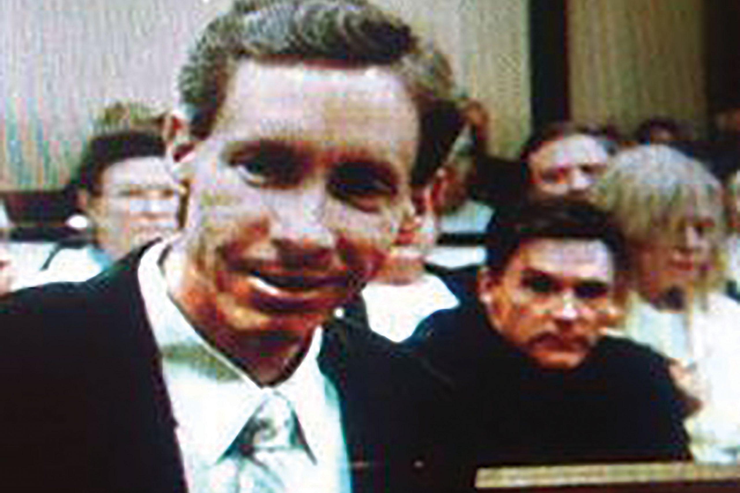bird-dogging polygamist Warren Jeffs in St. George, Utah, during a 2008 trial; Photo courtesy Mike Watkiss