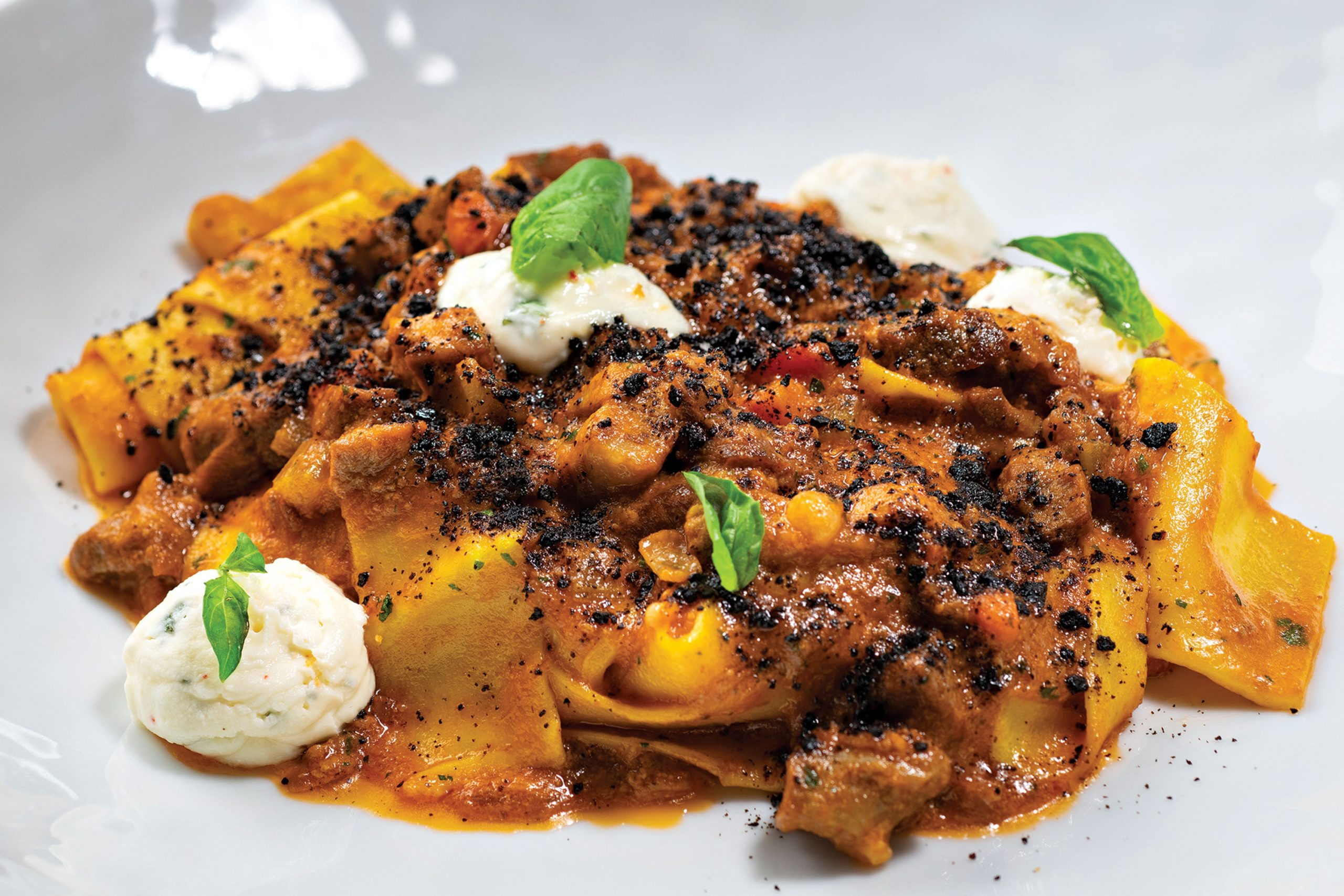 Pappardelle with milk-braised lamb; Photo by Rob Ballard