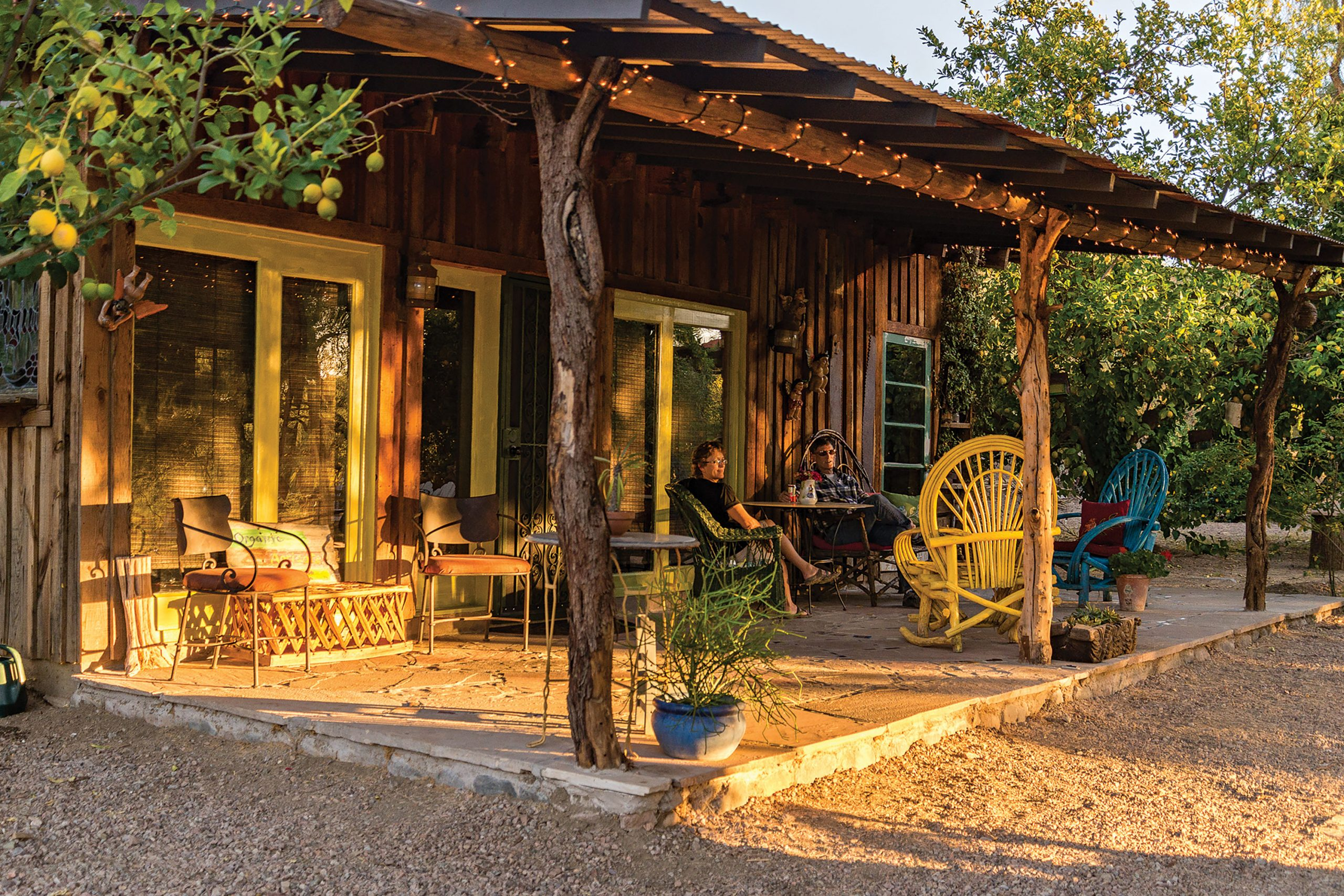 The Tree House casita at Aravaipa Farms Orchard and Inn; Photo by Jack H. Taylor