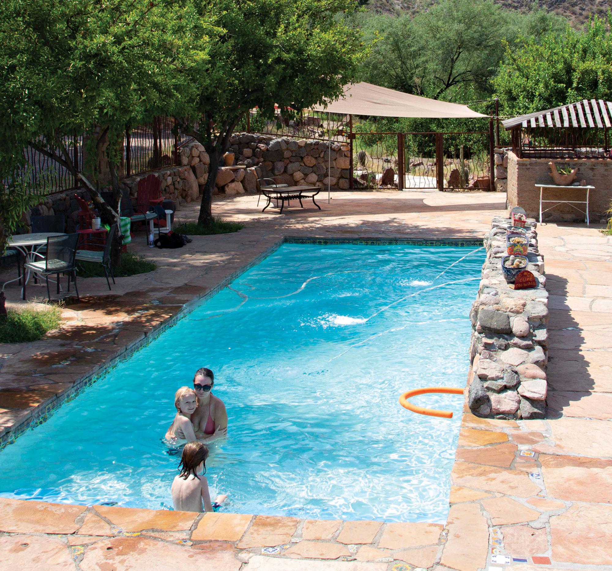 Aravaipa Farms swimming pool; Photo by Craig Outhier