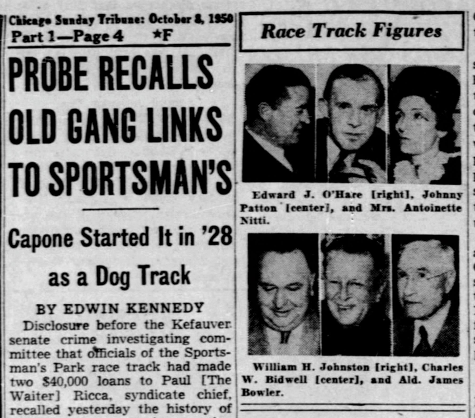 Chicago Tribune, October 8, 1950; Photo courtesy Chicago Tribune