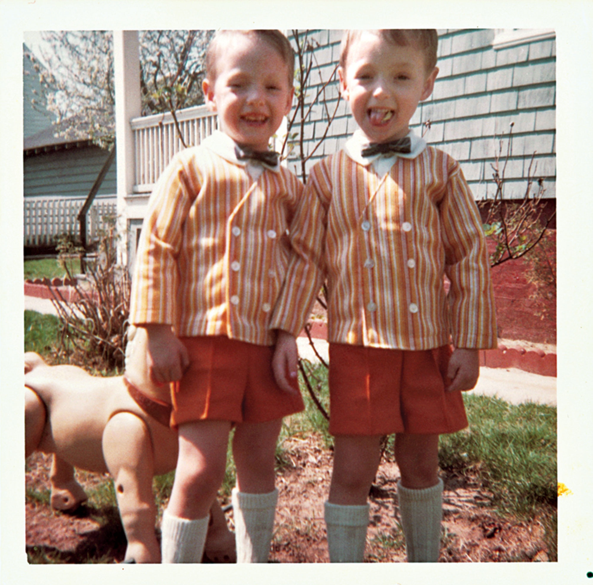 Kelly with twin brother Scott as youngsters; Photo courtesy the Mark Kelly Campaign