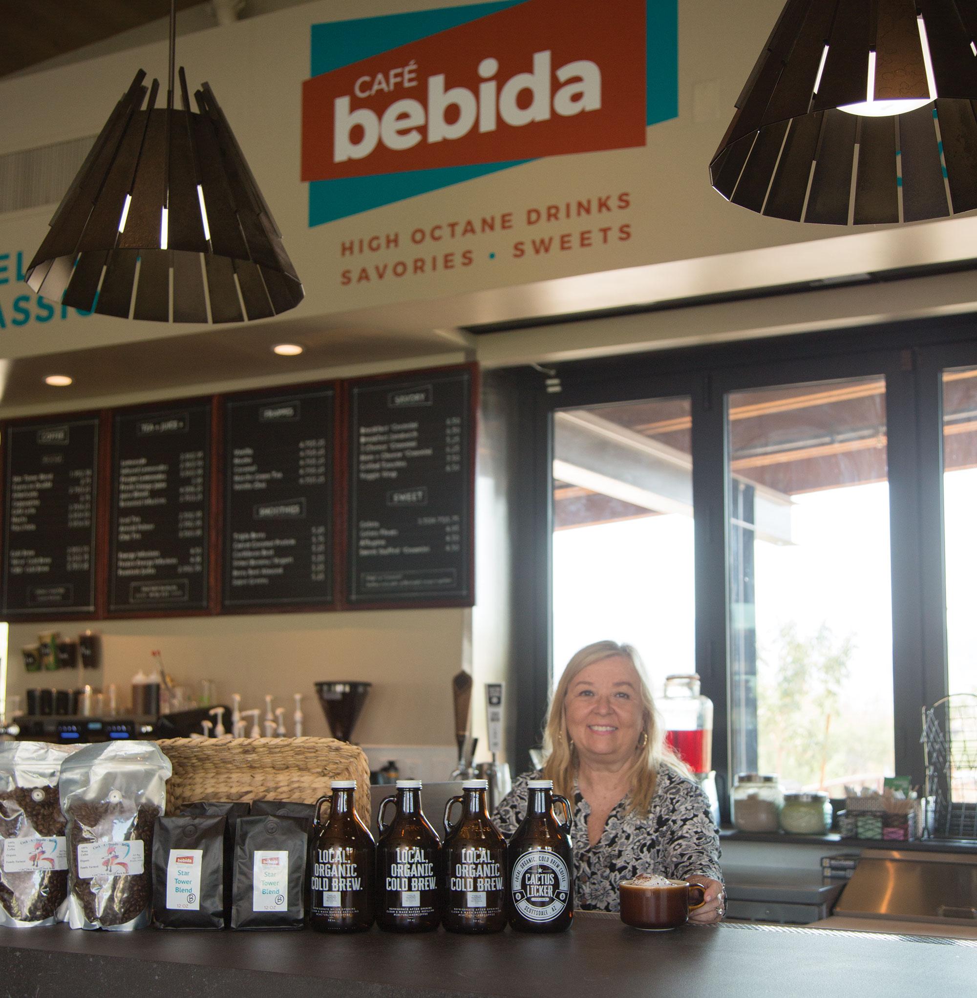 Owner Deborah Huyer at Café Bebida in Goodyear; Photo by Angelina Aragon