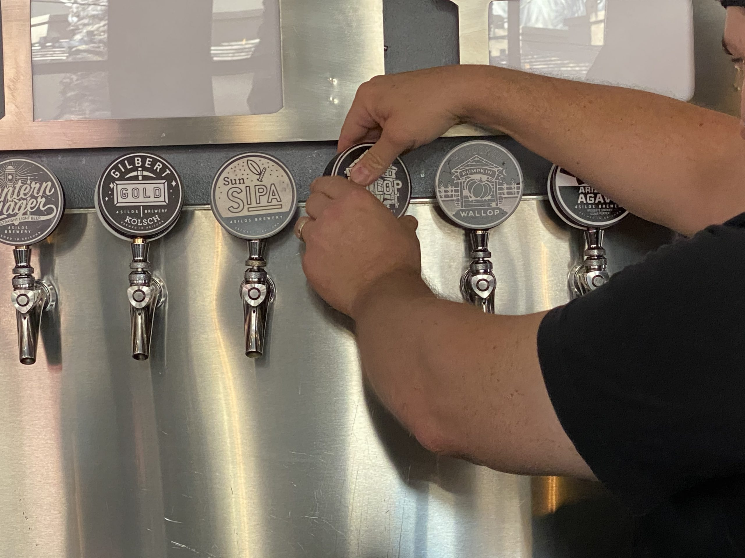 Tap handles at Four Silos.