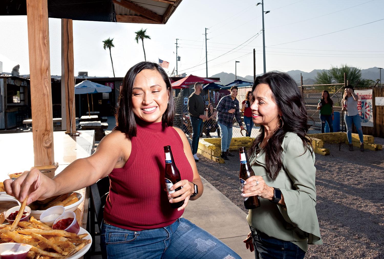 Waddell's Longhorn Corral; Photo by Mirelle Inglefield; Models: Deb and Veronica Peraza, Dinah Estrella, Nicole Arrieta, Jacob Rodriguez, Naser Naser, Andriana Ortega, Yajayra Jimenez