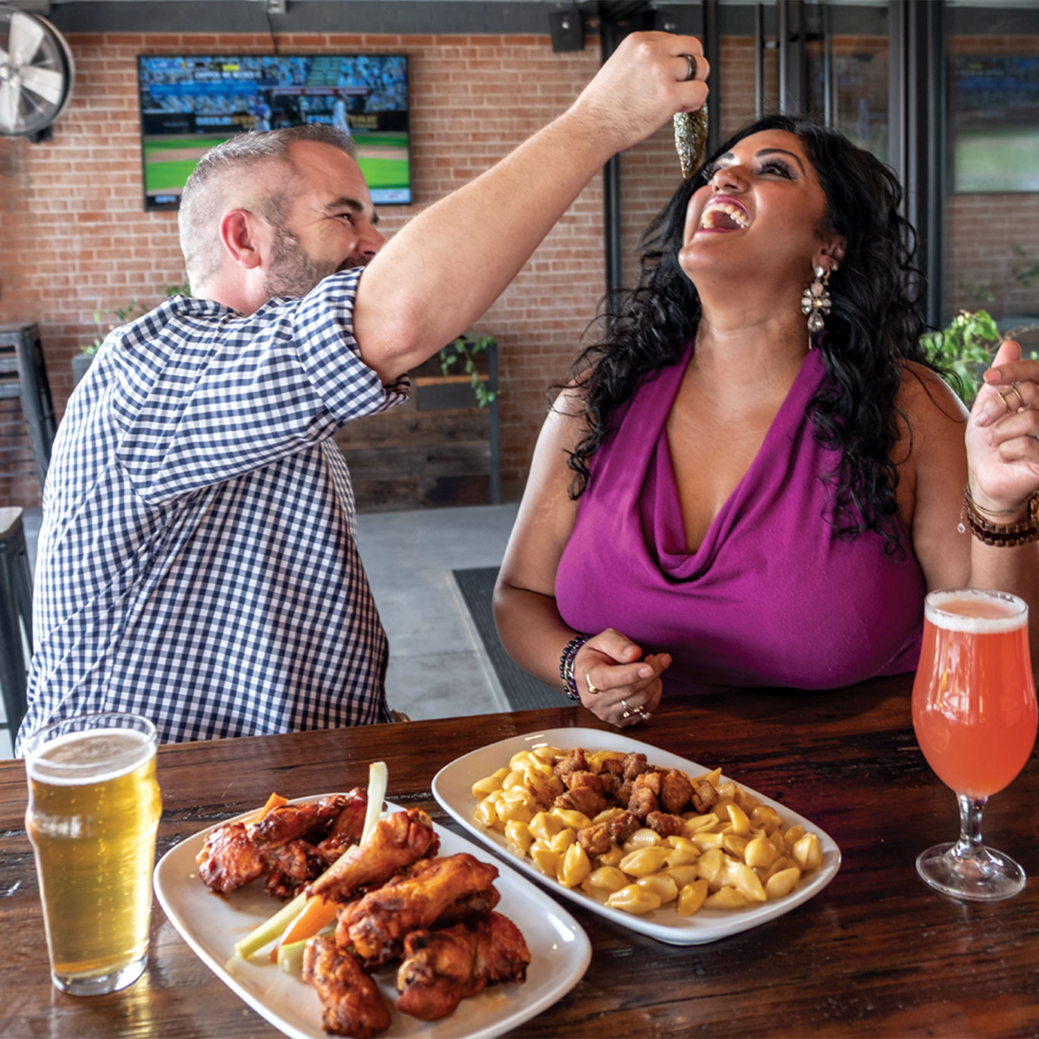 12 West Brewing Co; Photo by Mirelle Inglefield, Models: Kirti Dwivedi and Bobby Borszich