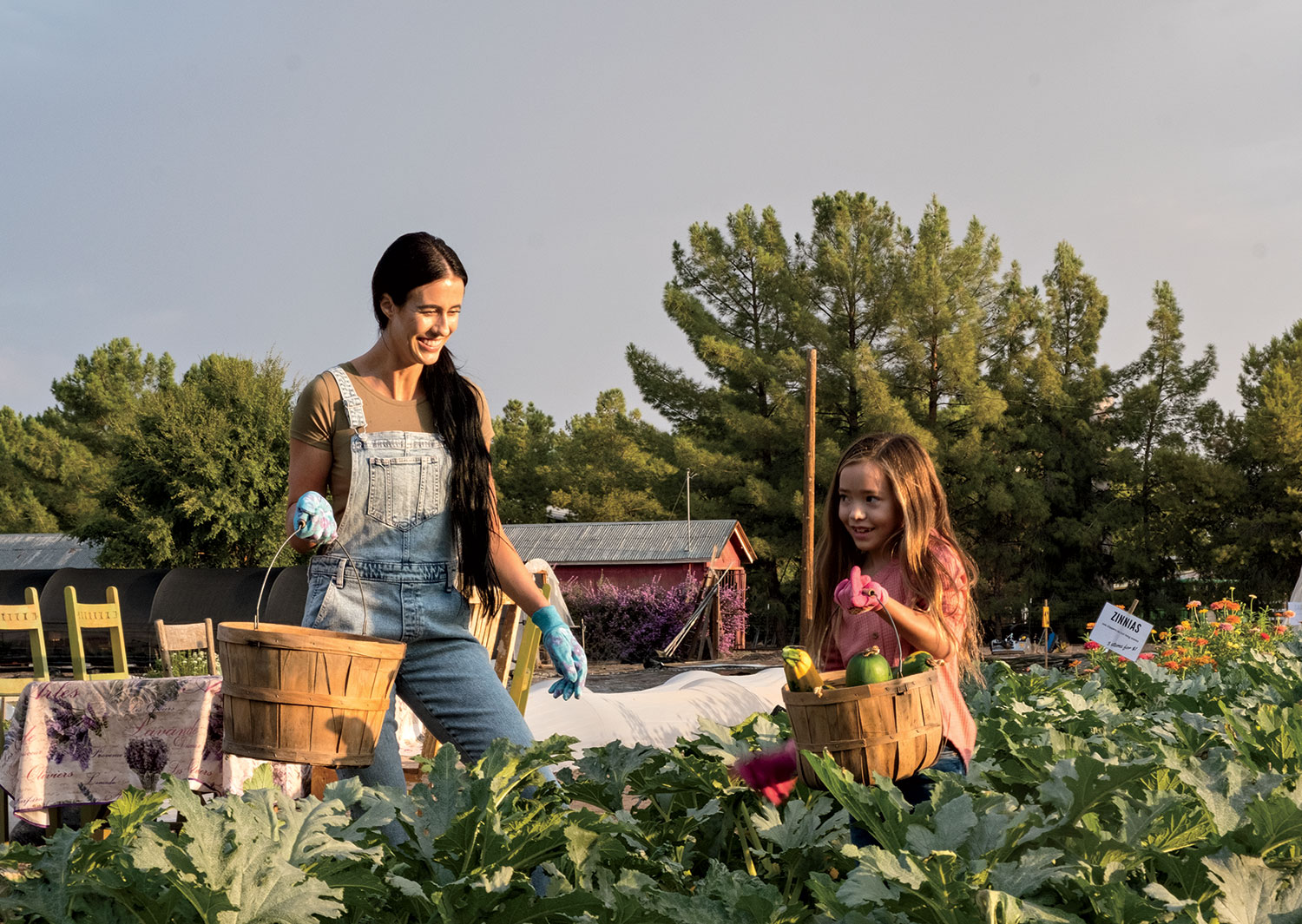 Schnepf Farms; Photo by Mirelle Inglefield, Models Lacey and June Nagao/Ford Robert Black Agency