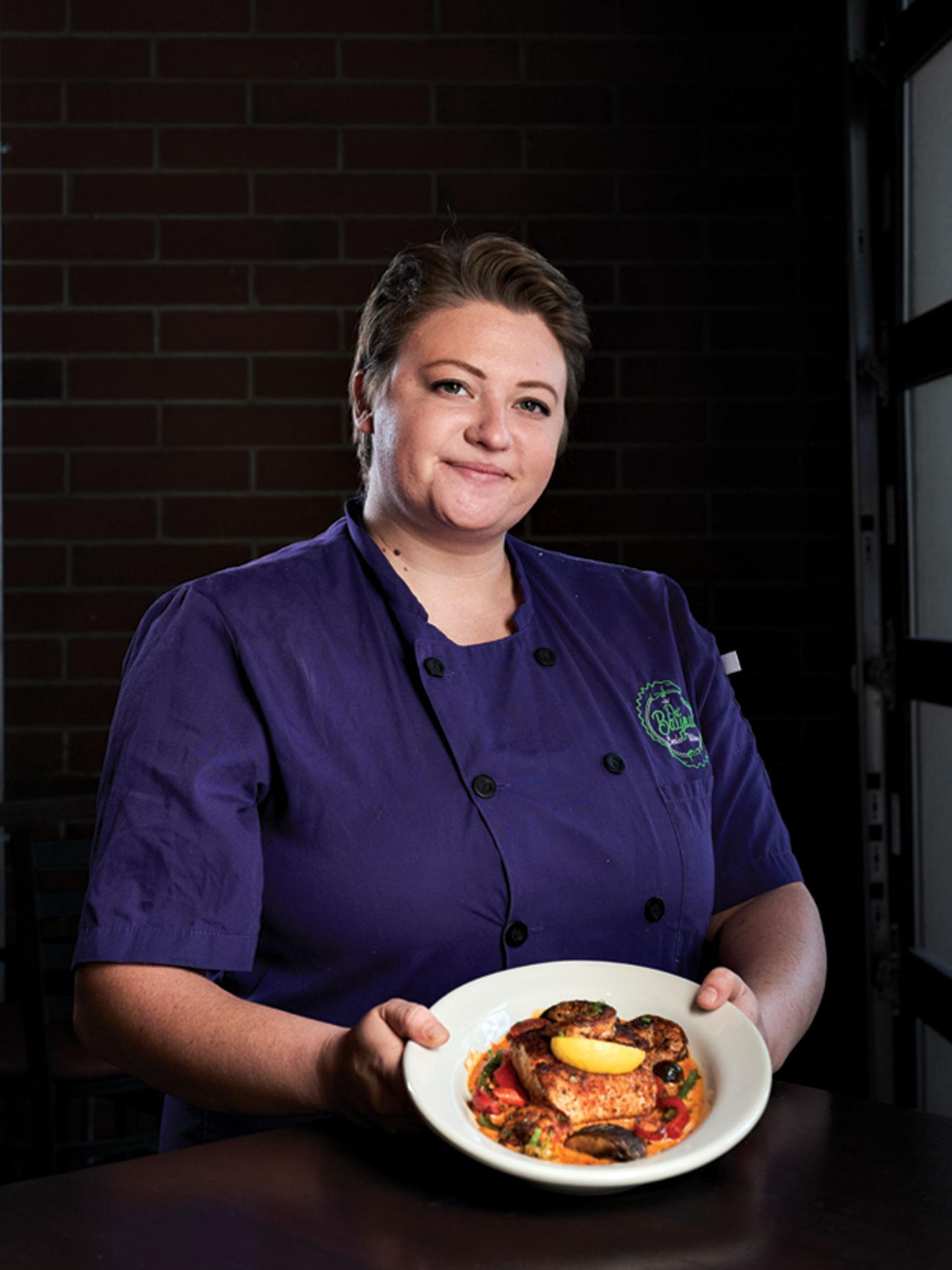 chef Ali Biller at Da'Bayou Creole Kitchen; Photo by Kyle Ledeboer