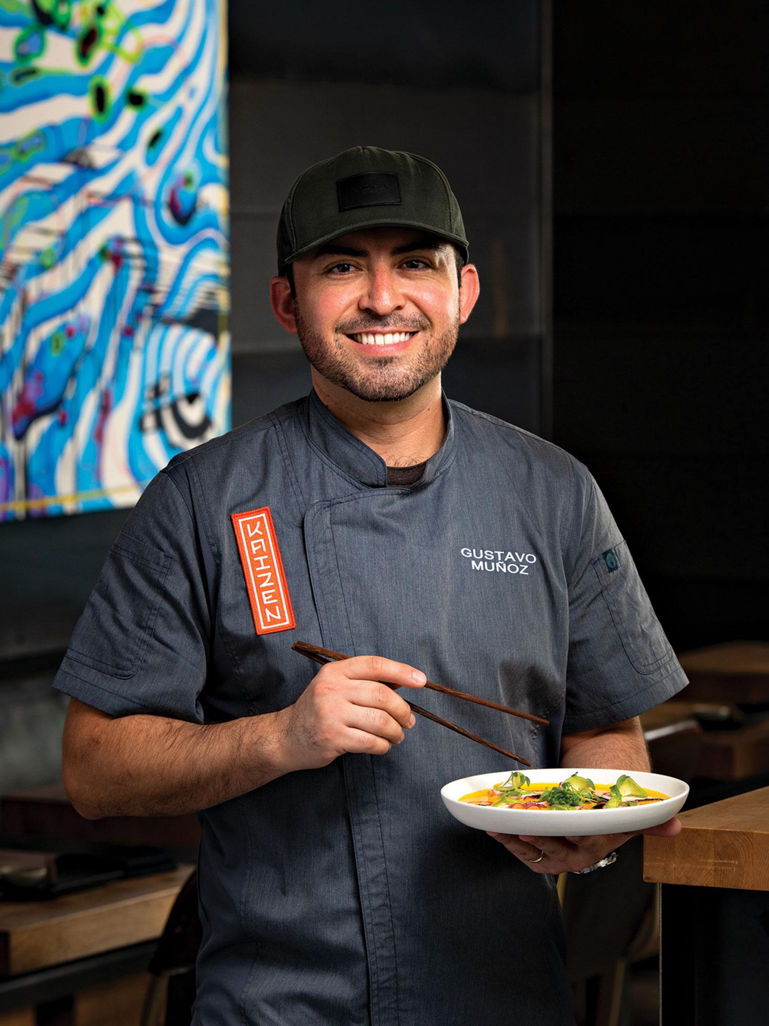 Chef Gustavo Muñoz at Kaizen; Photo by Rob Ballard