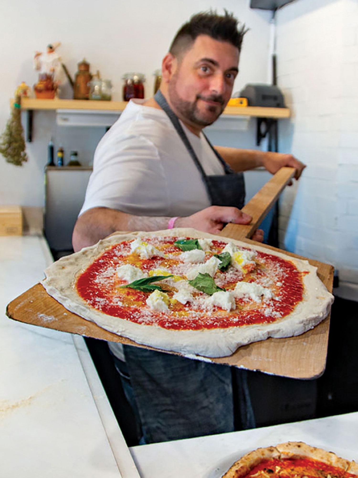 chef Gio Osso at Pizzeria Virtù; Photo courtesy Pizzeria Virtú