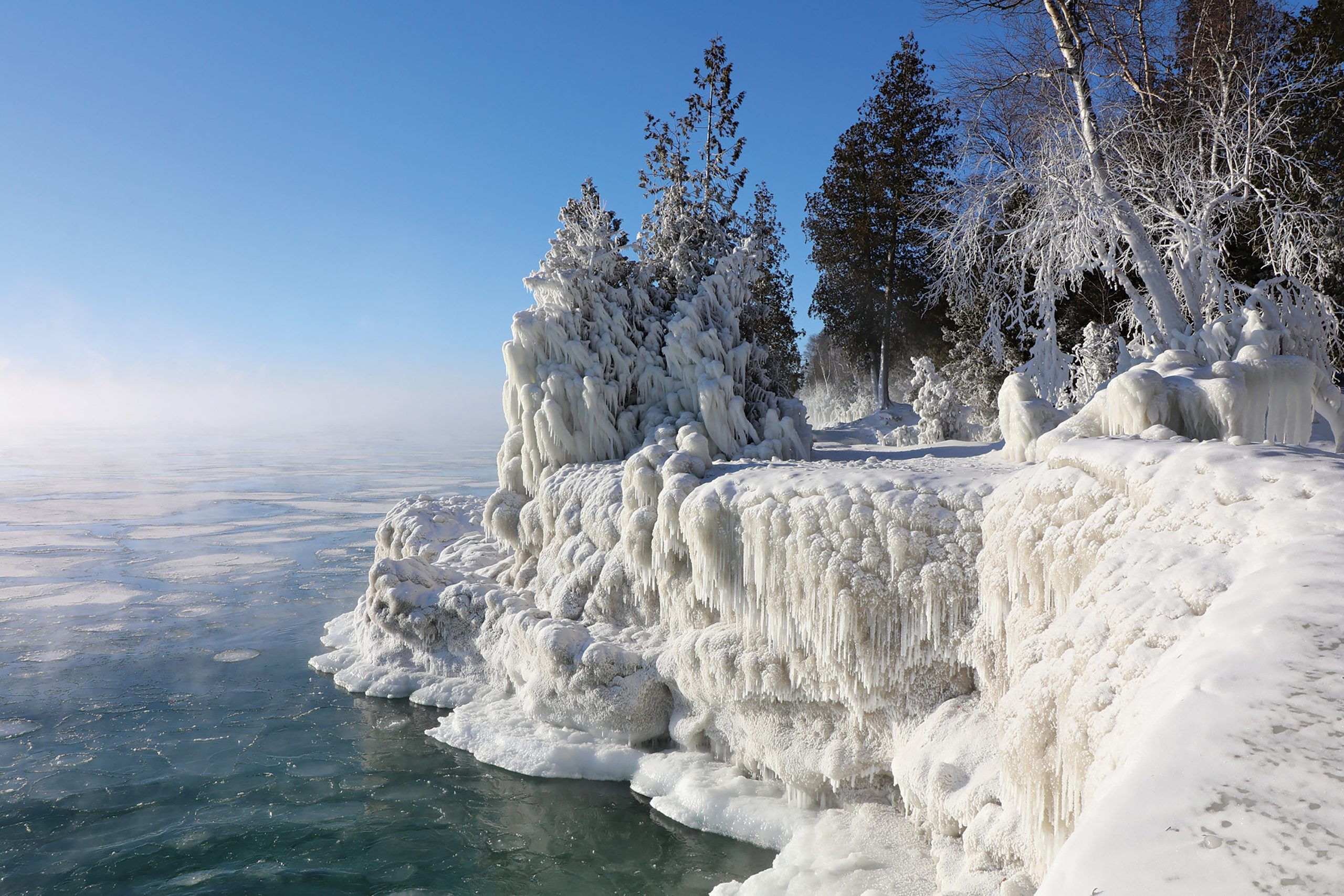 Cave Point County Park in Sturgeon Bay; Photo courtesy Destination Door County