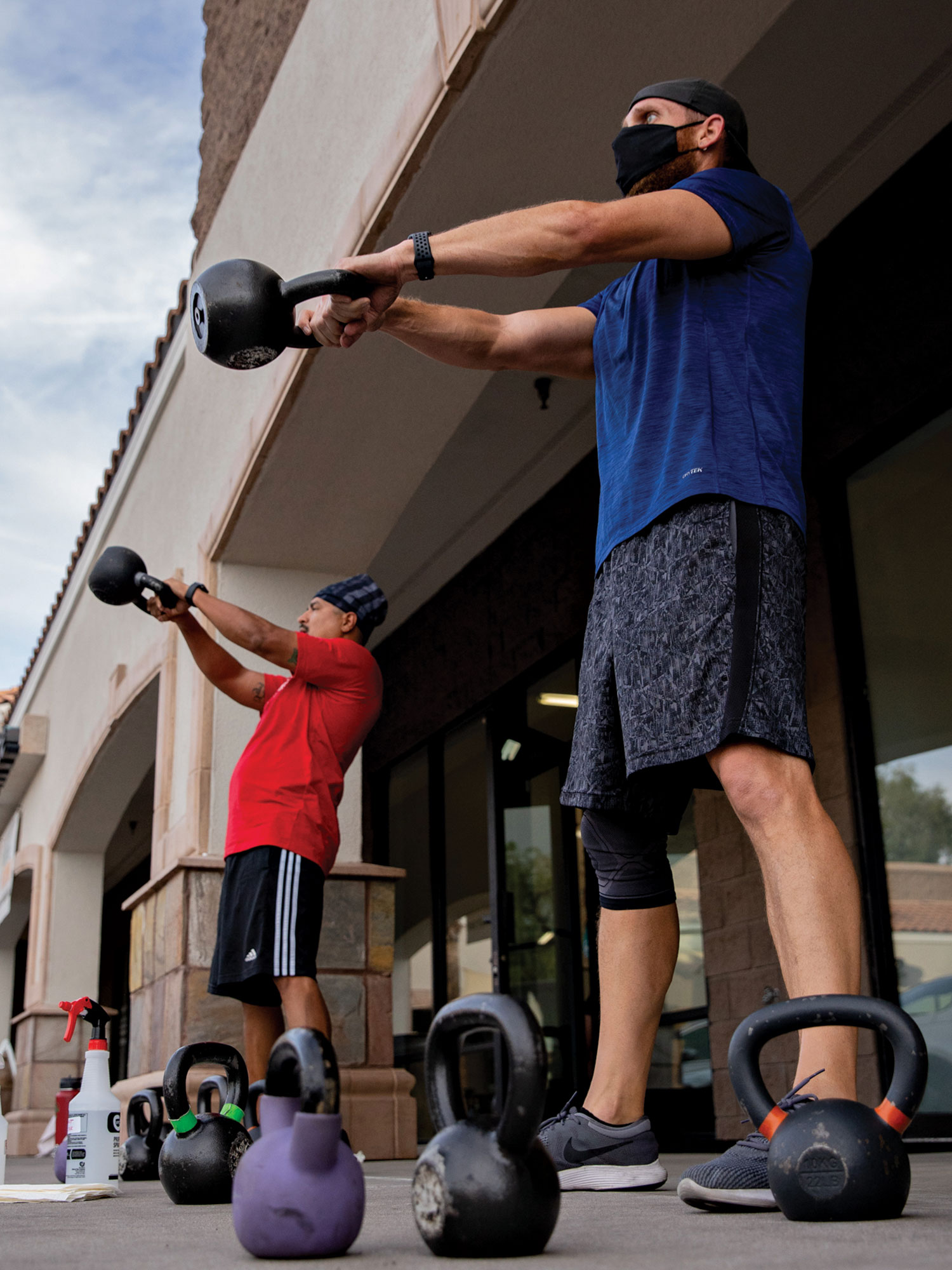 TruHit clients enjoy open-air workouts in Ahwatukee.; Photo by Samantha Chow
