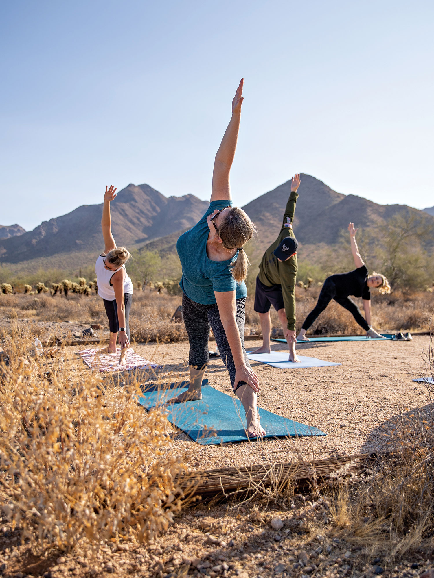 Yoga in the Preserve at McDowell Sonoran Preserve; Photo by Samantha Chow