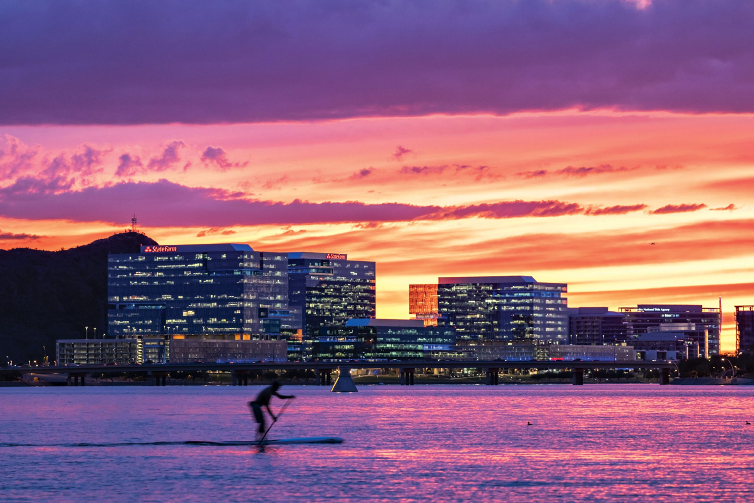 SUP at Tempe Town Lake; Photo Courtesy Adobe Stock Images