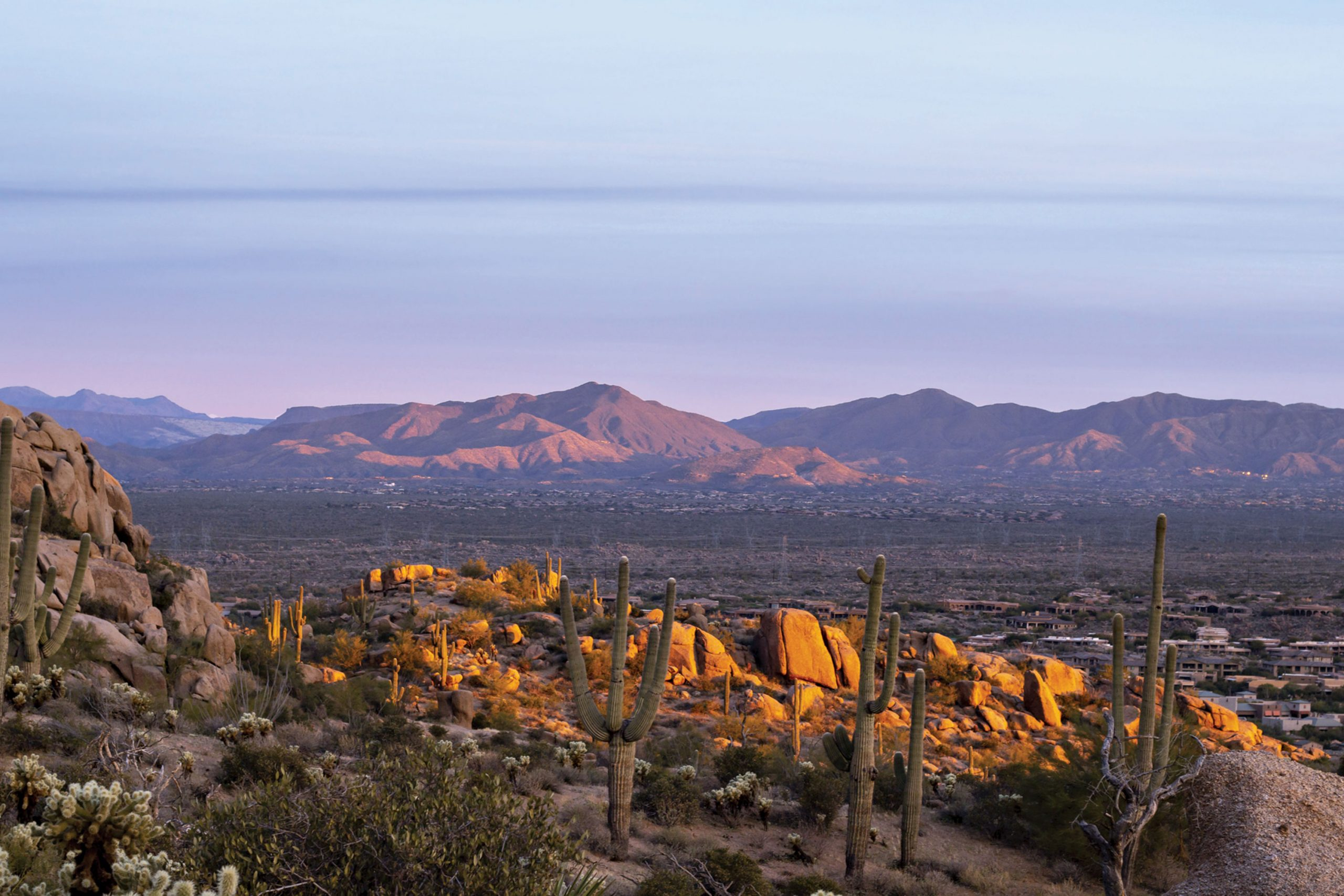 view from Pinnacle Peak Trail; Photo by Ray Redstone/courtesy Adobe Stock Images