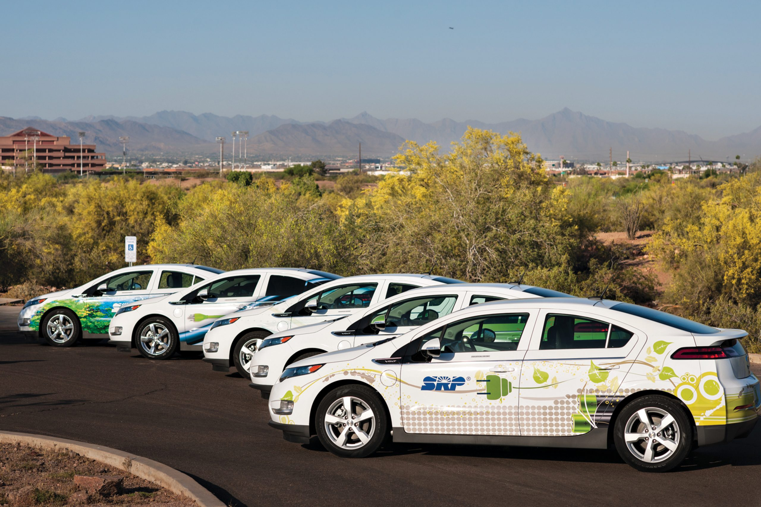 SRP has close to 200 electric vehicles, including light-duty vehicles, bucket trucks, forklifts and utility carts.; Photo courtesy SRP