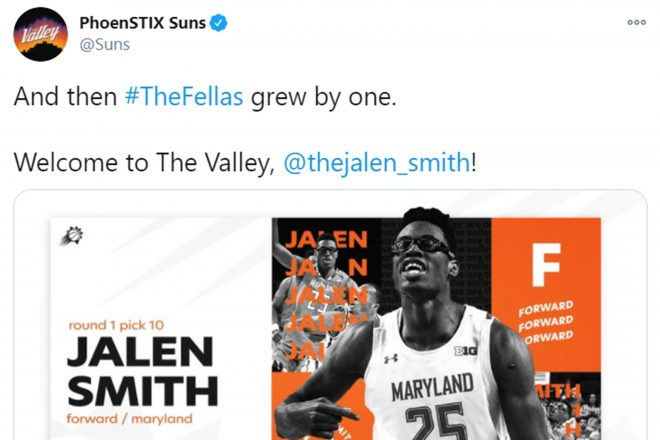 Suns Draft PF Jalen Smith of Maryland 10th Overall