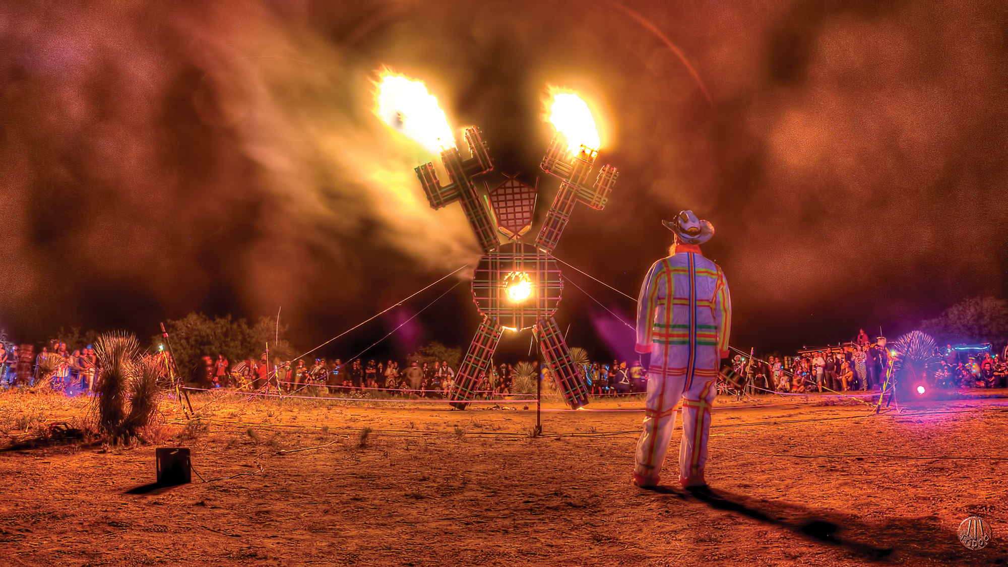 Plaid Man by Todd Noris at Saguaro Man; Photo by Todd Norris/courtesy Saguaro Man