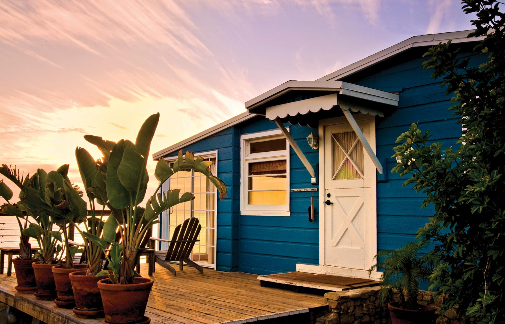 beach bungalow at Crystal Cove Beach; Photo Courtesy Visit Newport Beach; Hotel McCoy/Sean Parker Photography