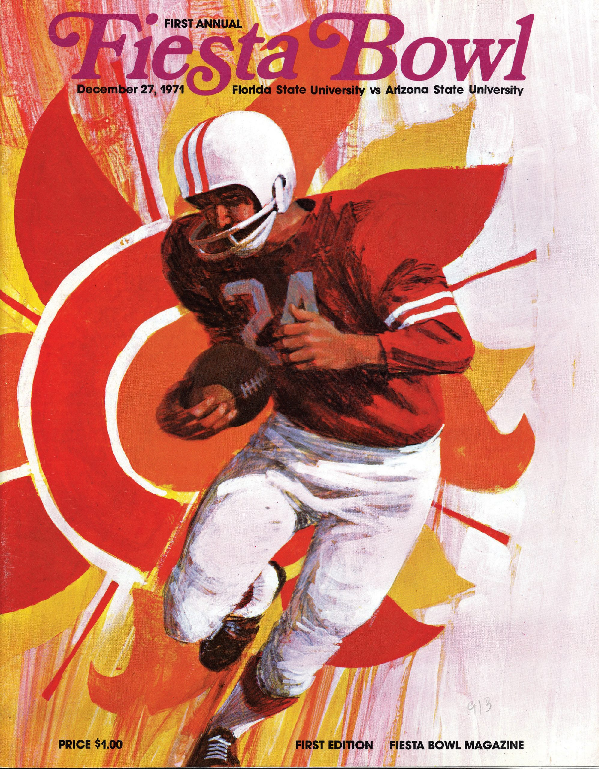 Cover of the 1971 Fiesta Bowl program; Photo courtesy Fiesta Bowl