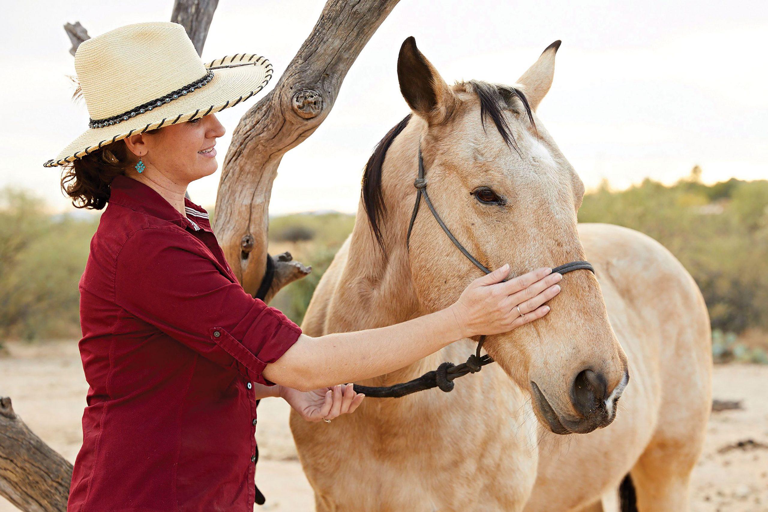 Horse therapy at Miraval Arizona in Tucson; Photo courtesy Miraval Arizona