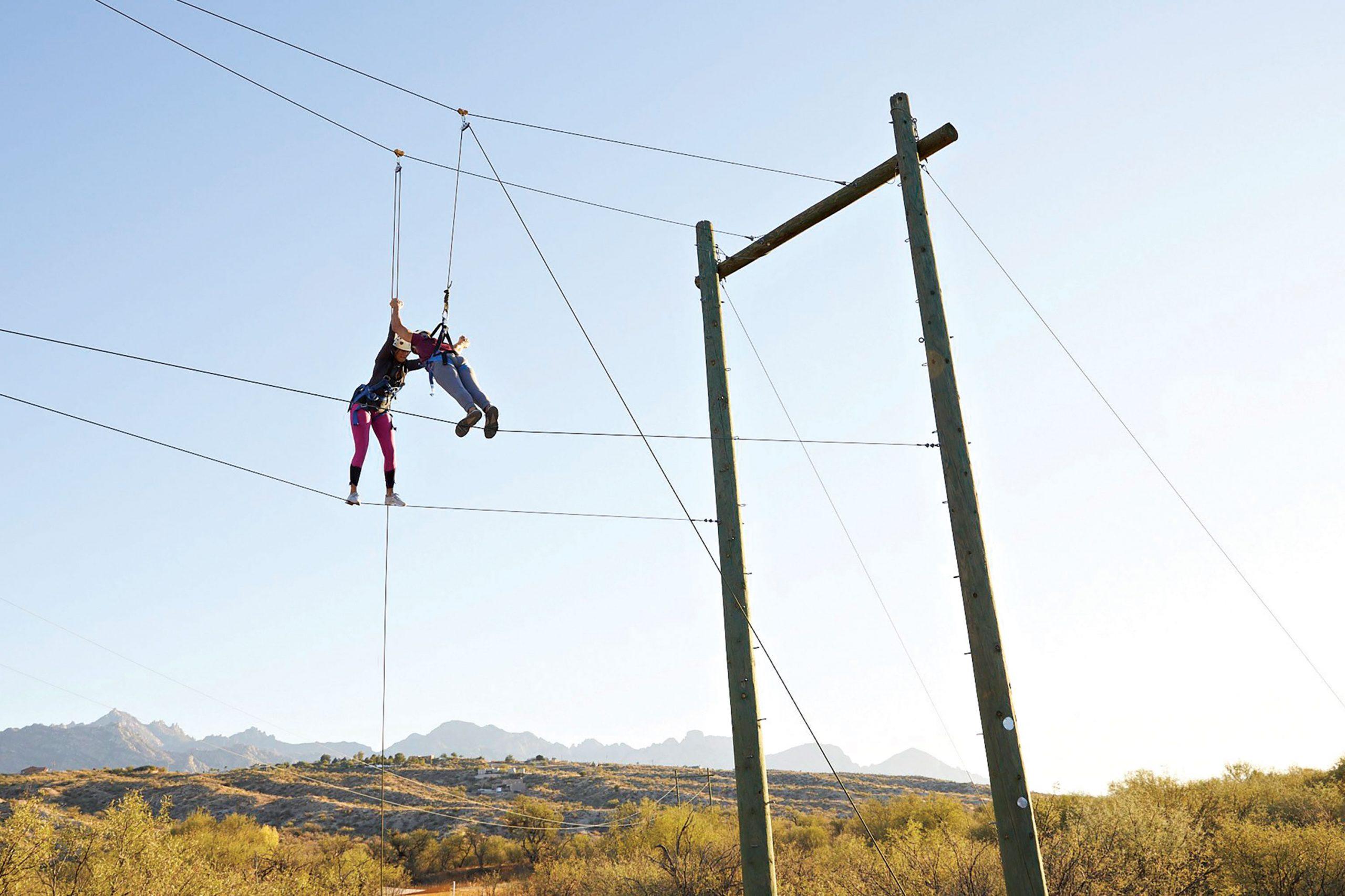 Tightrope therapy at Miraval Arizona; Photo courtesy Miraval Arizona