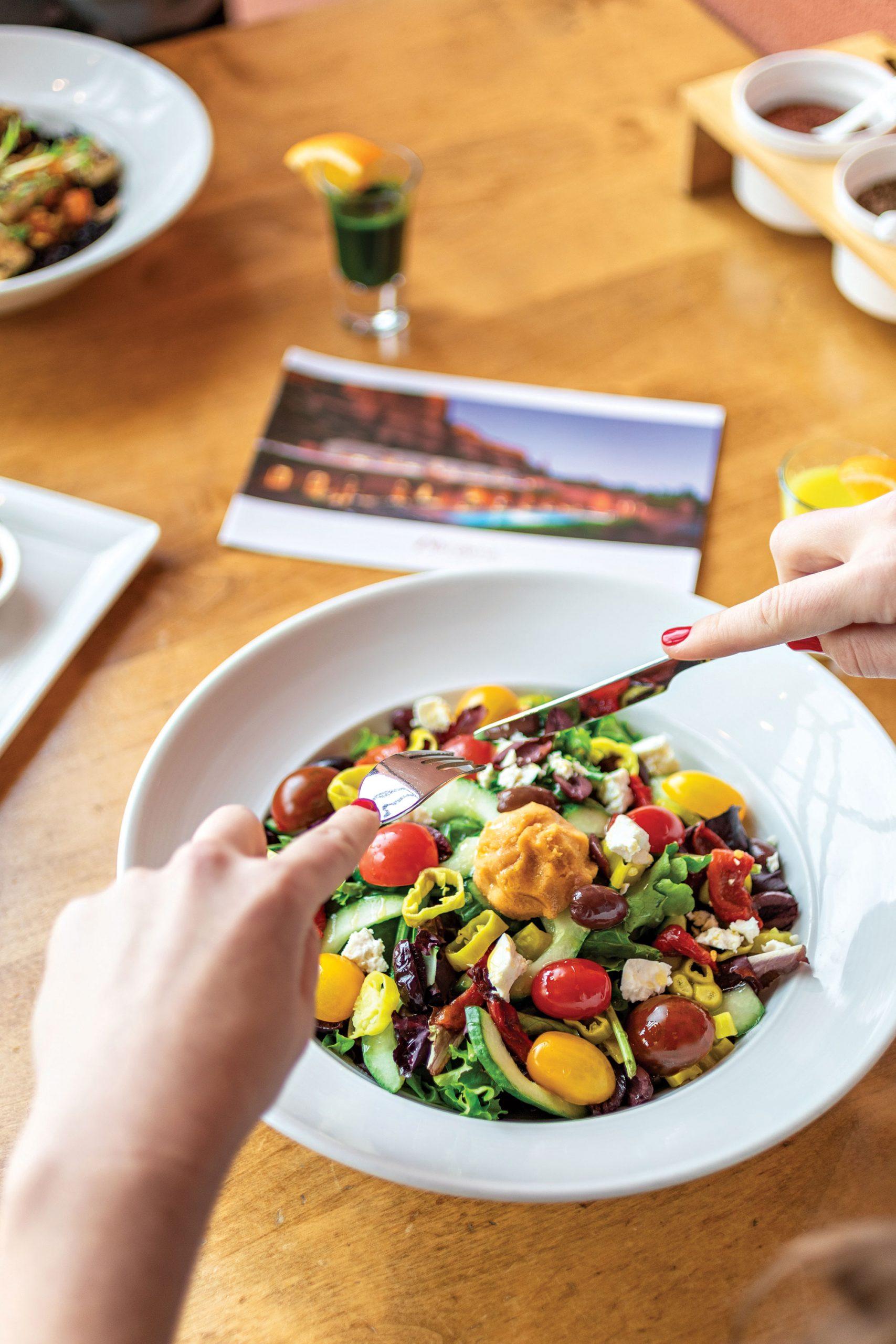 Healthy cuisine at Enchantment Resort; Photos courtesy Enchantment Resort