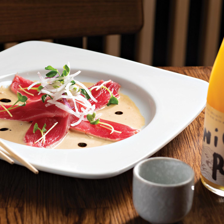 tuna carpaccio at Daruma; Photography by Rob Ballard