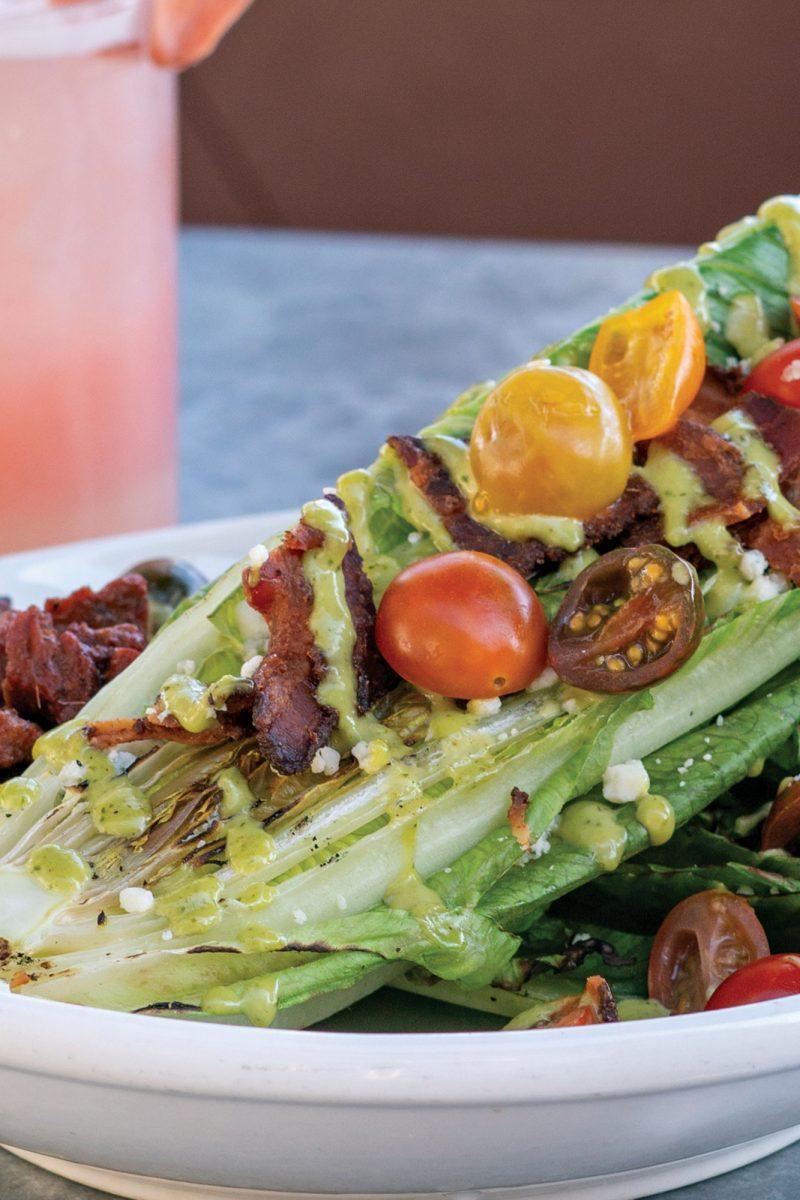 Three Bites: Grilled Romaine Salad