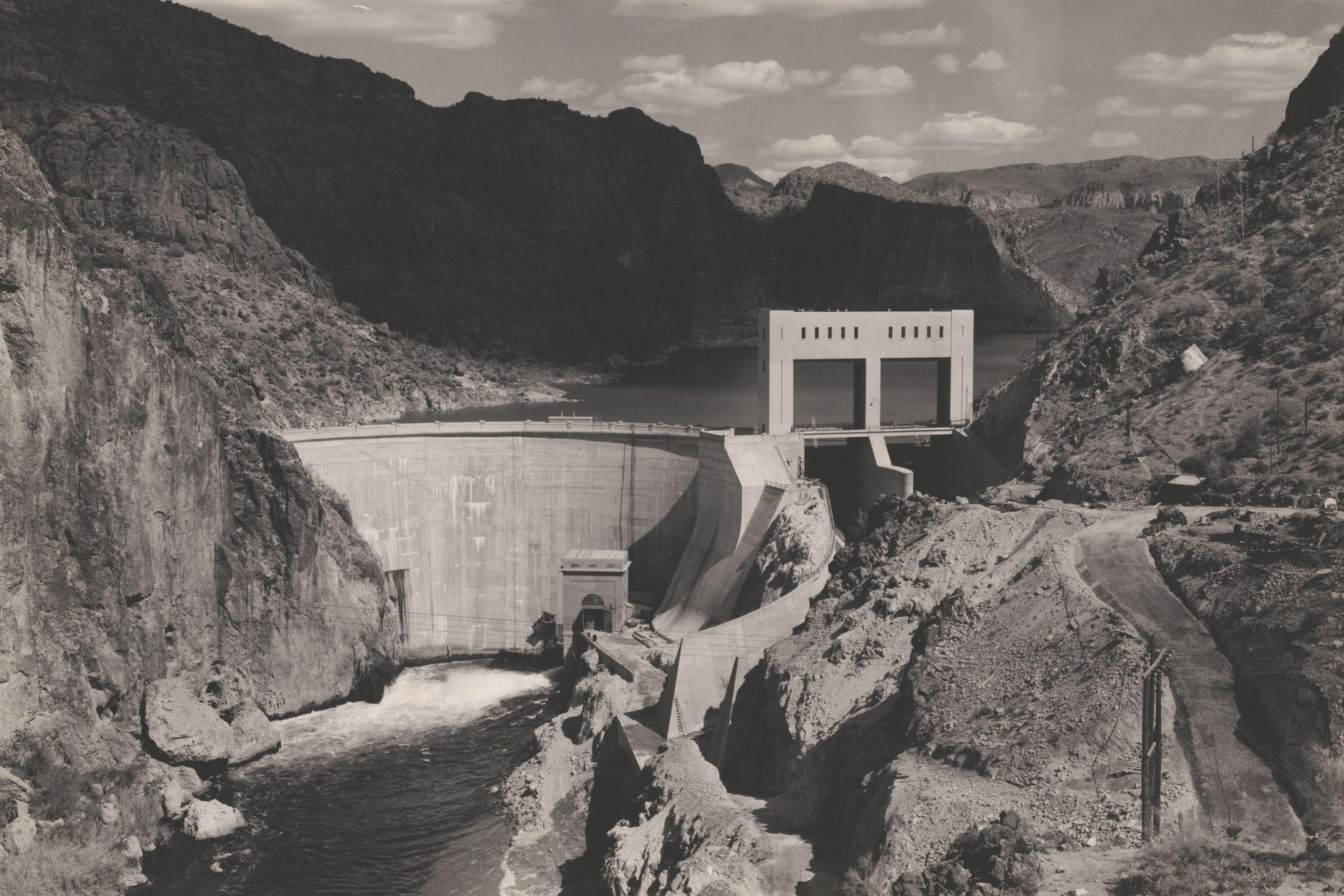 Mormon Flat Dam, 1936; Photo courtesy Library of Congress