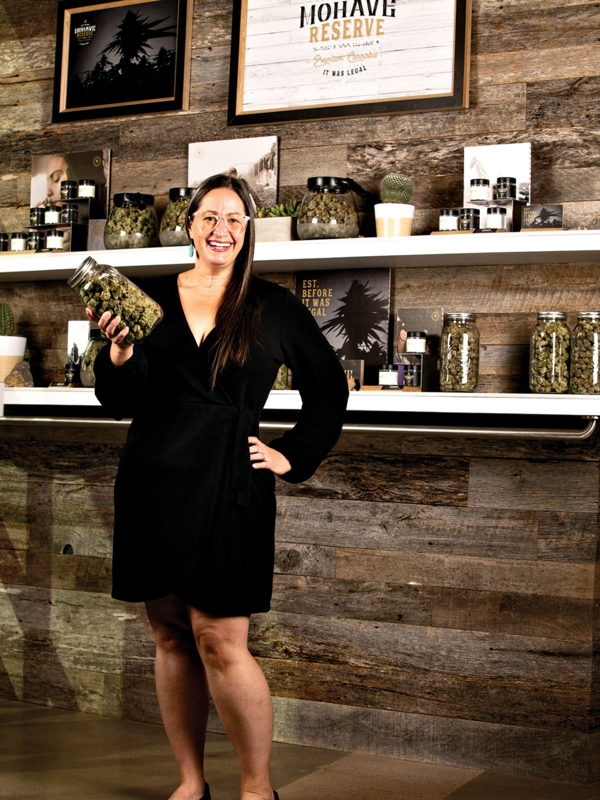 cannabis attorney Sara Presler at Mohave Cannabis Co..; Photo by Chris Mortenson