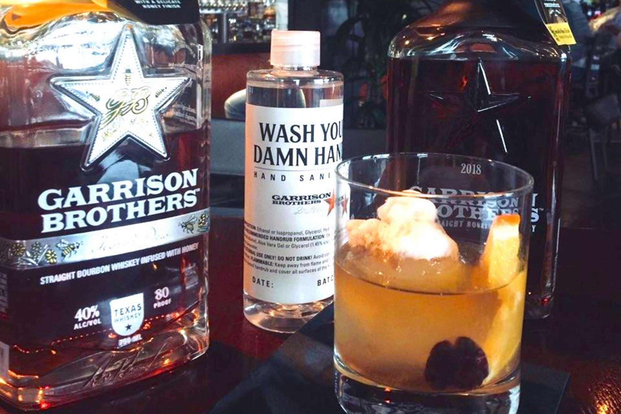 Old Fashioned created with Garrison Brothers Bourbon
