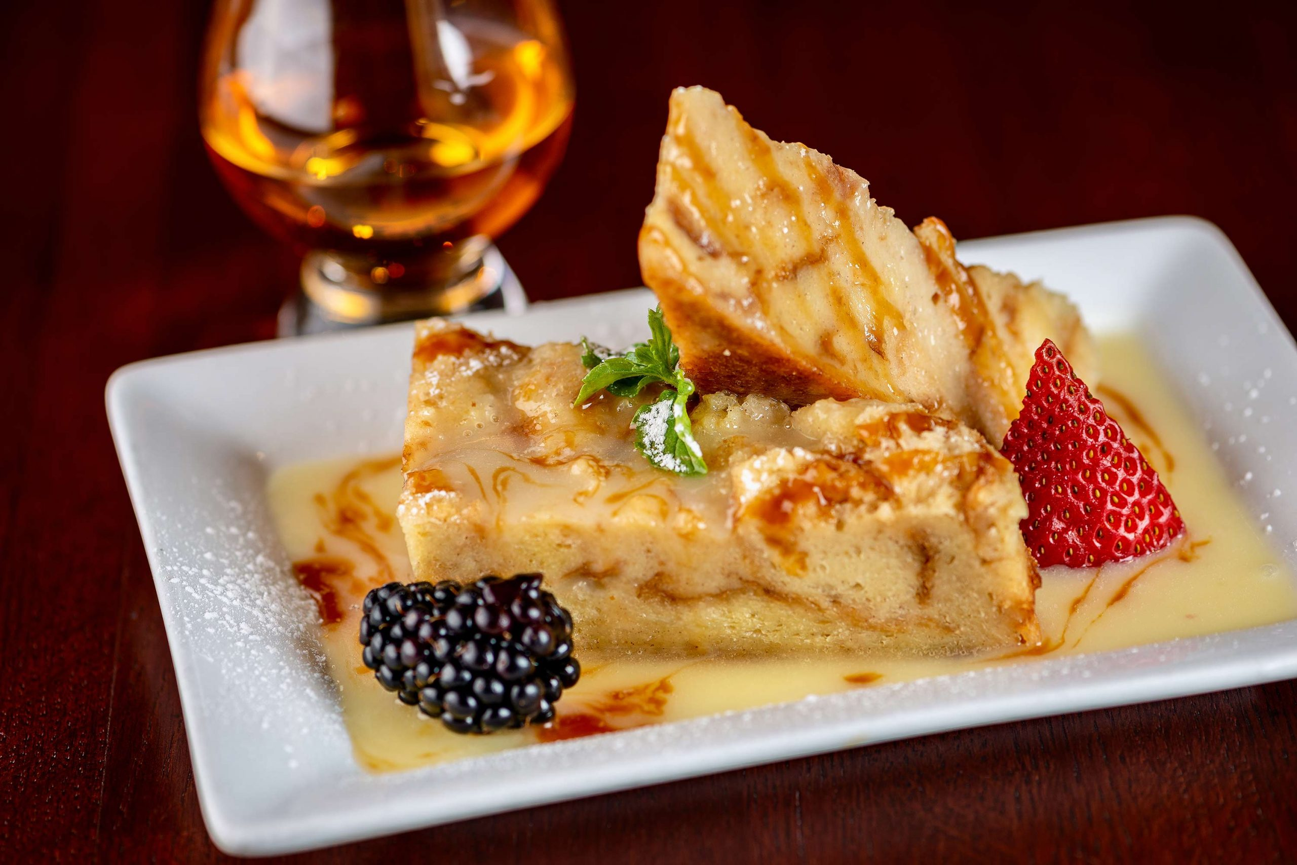 Brioche bread pudding at Phoenix City Grille