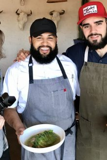 Chef Rene Andrade (center)