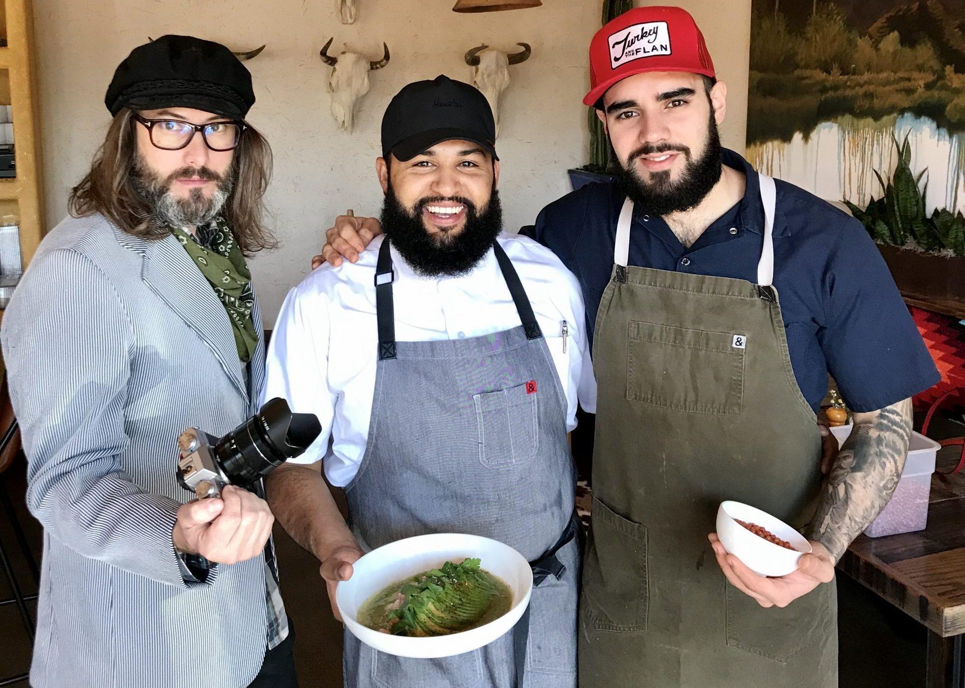 Chef Rene Andrade (center)