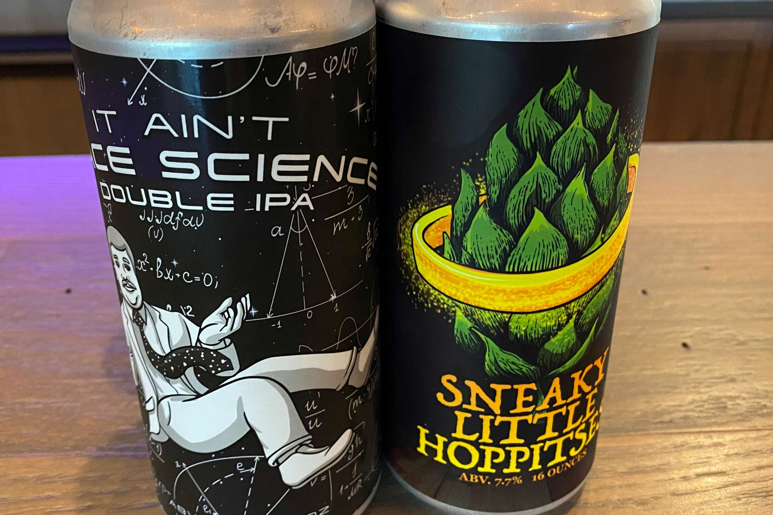 It Ain't Space Science Double IPA & Sneaky Little Hoppitses from Front Pourch Brewing
