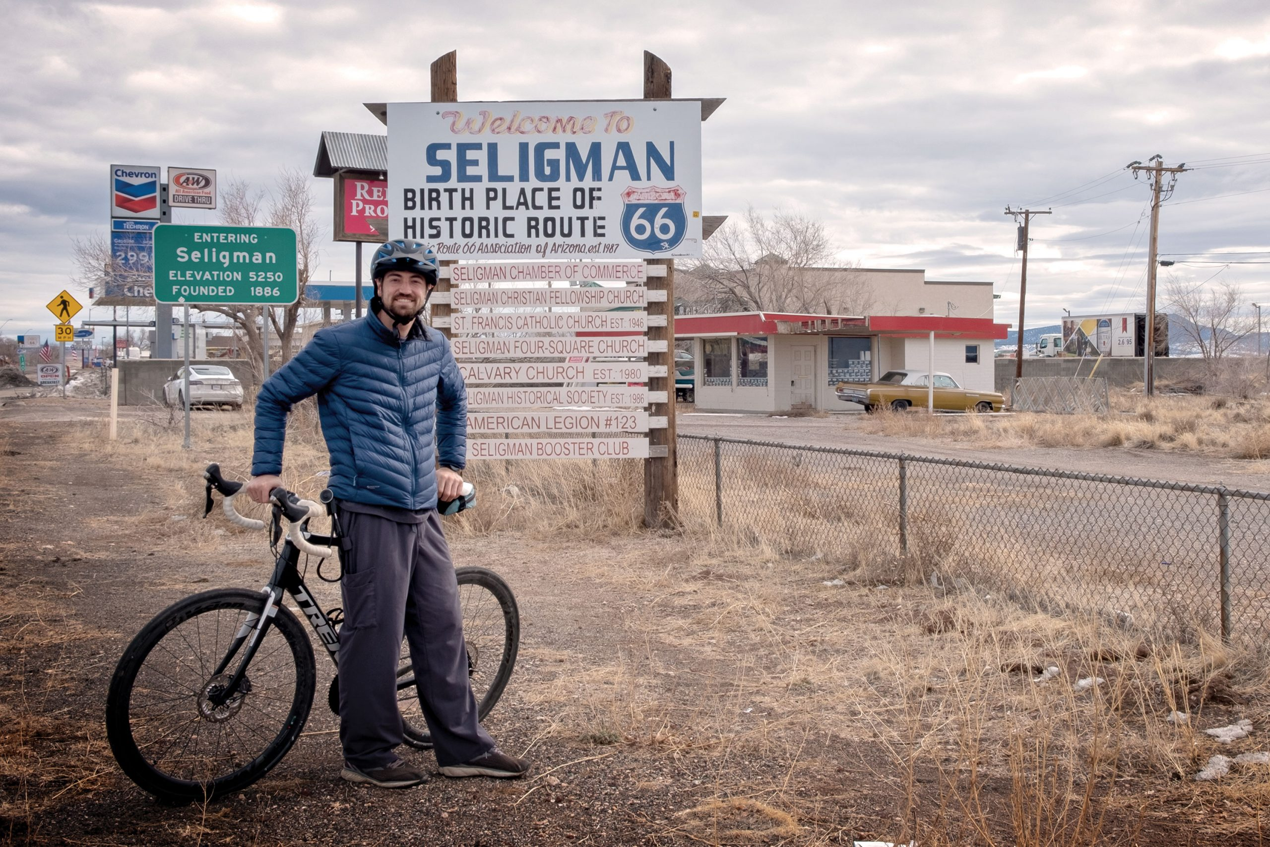 An avid cyclist, Dr. Michael Druschel often commutes on his bike and performs everything from minor surgeries to routine check-ups at the North Country HealthCare center in Seligman.; Photo by Mirelle Inglefield