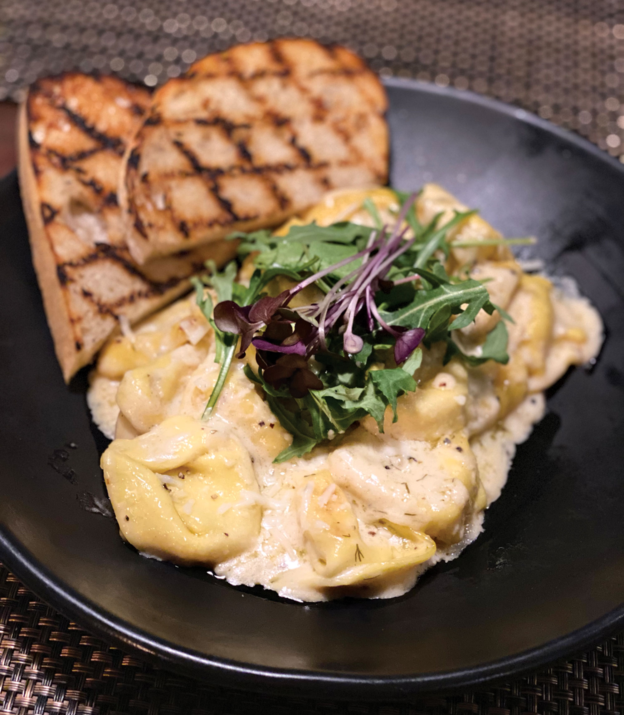Tortellini mac and cheese at The Clinkscale; Photo by Madison Rutherford