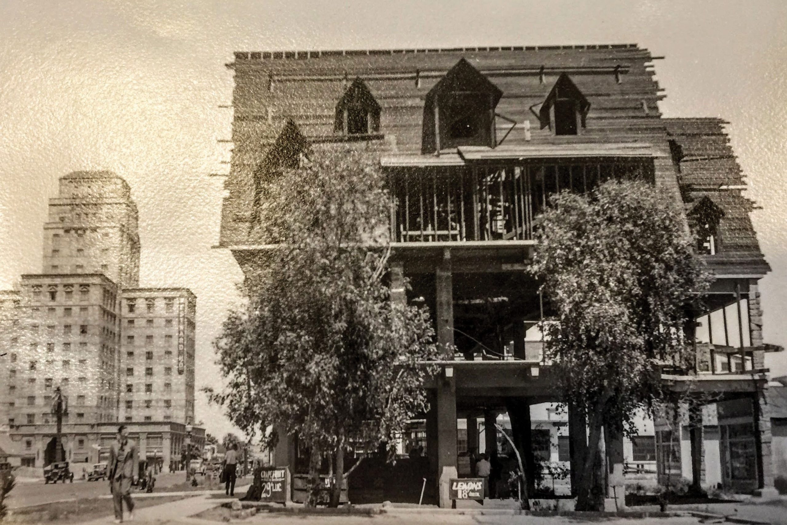 Hattie Mosher's Tea House at Central Avenue and Taylor Street, which was razed in 1955; Photo courtesy Paul Scharbach