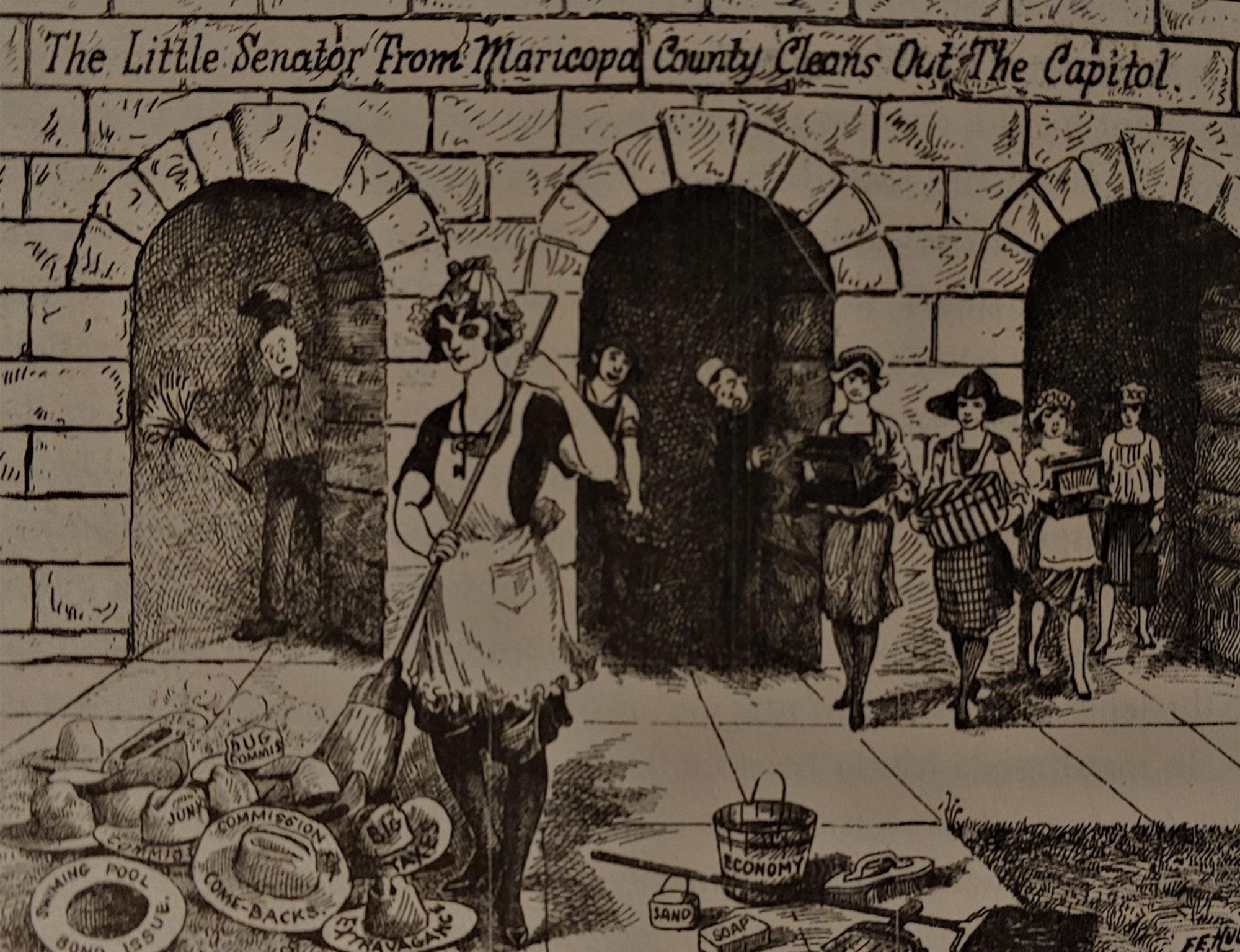 Mosher's campaign ad for the Arizona State Senate, 1922; Photo courtesy Heidi Osselaer
