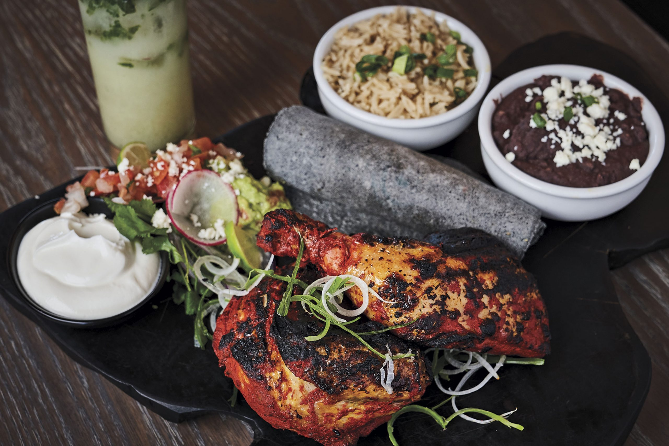 mesquite grilled achiote chicken; Photo by Kyle Ledeboer