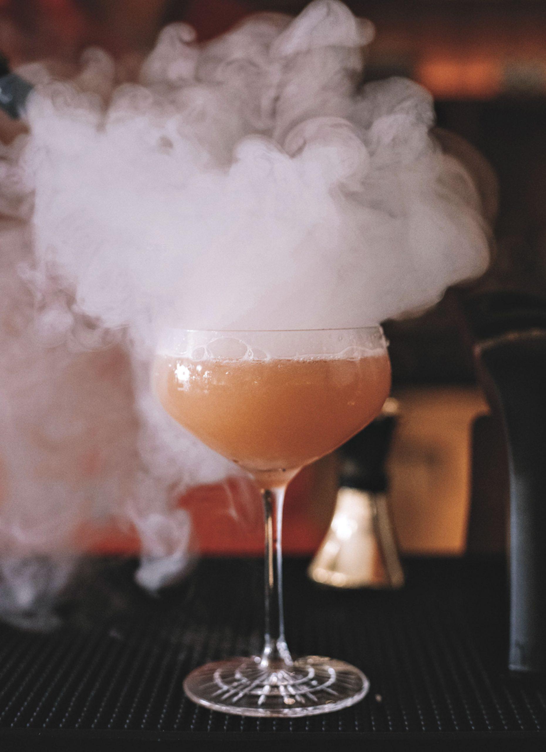 smoke-infused cocktal at Árbol; Photo by Bronwyn Knight