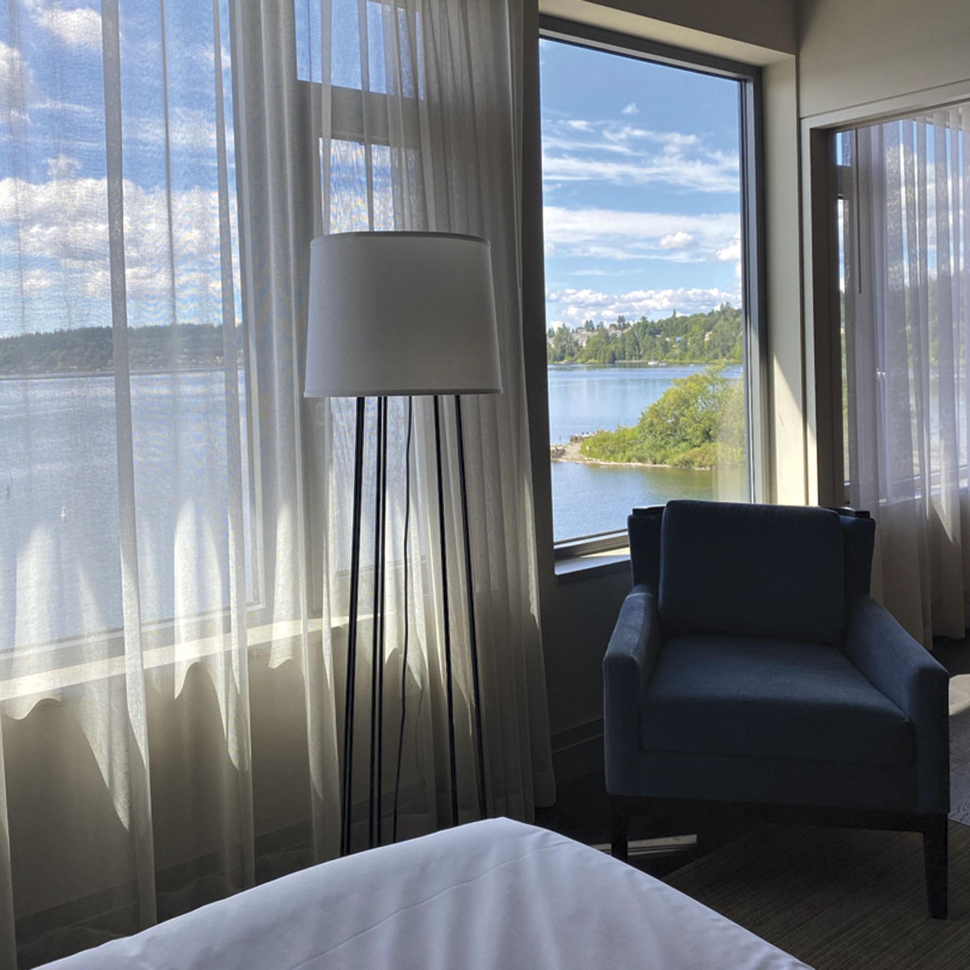 Suite view at Hyatt Regency Lake Washington; Photo by Madison Rutherford