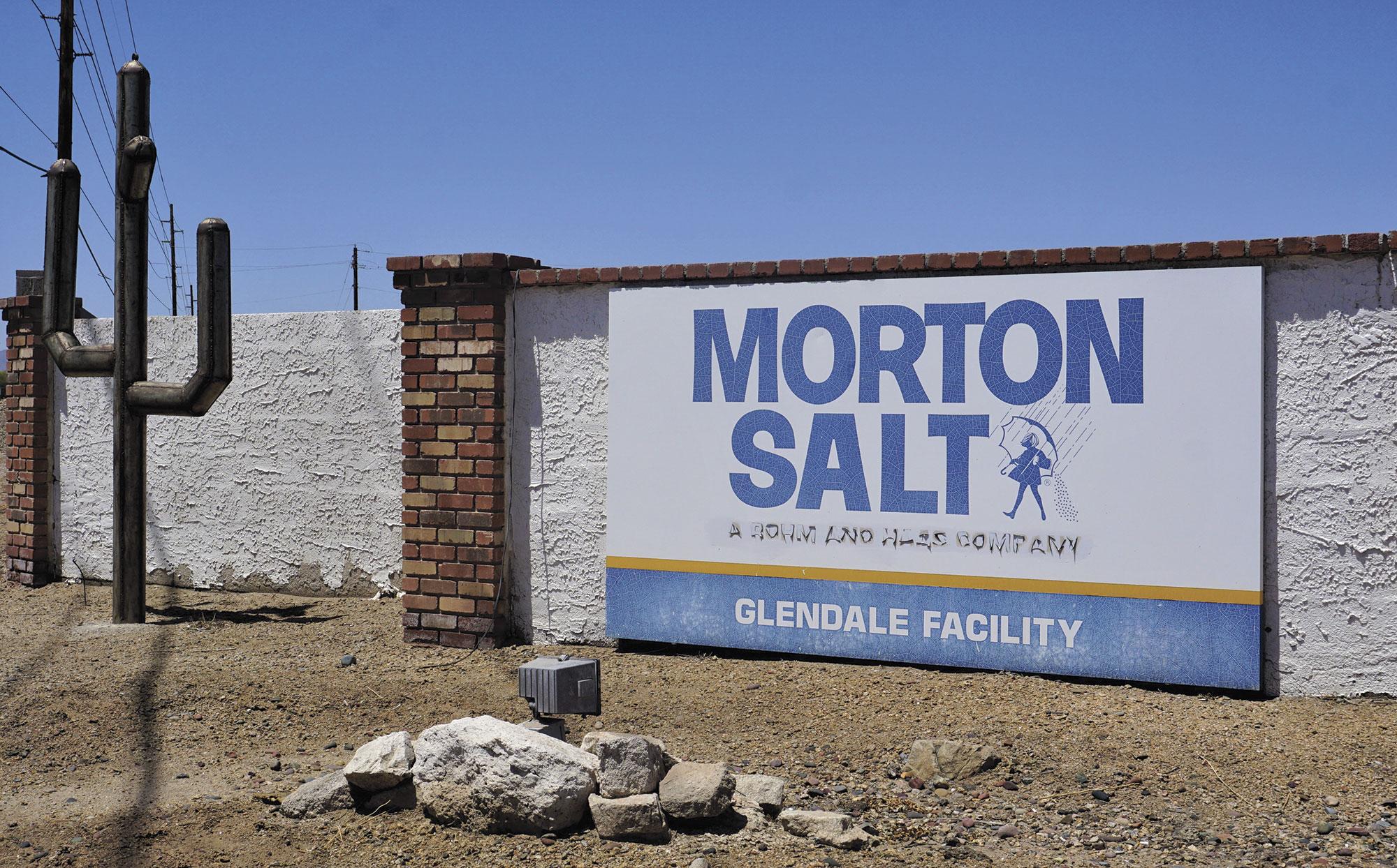 Morton Salt plant entrance; Photo courtesy Douglas C. Towne