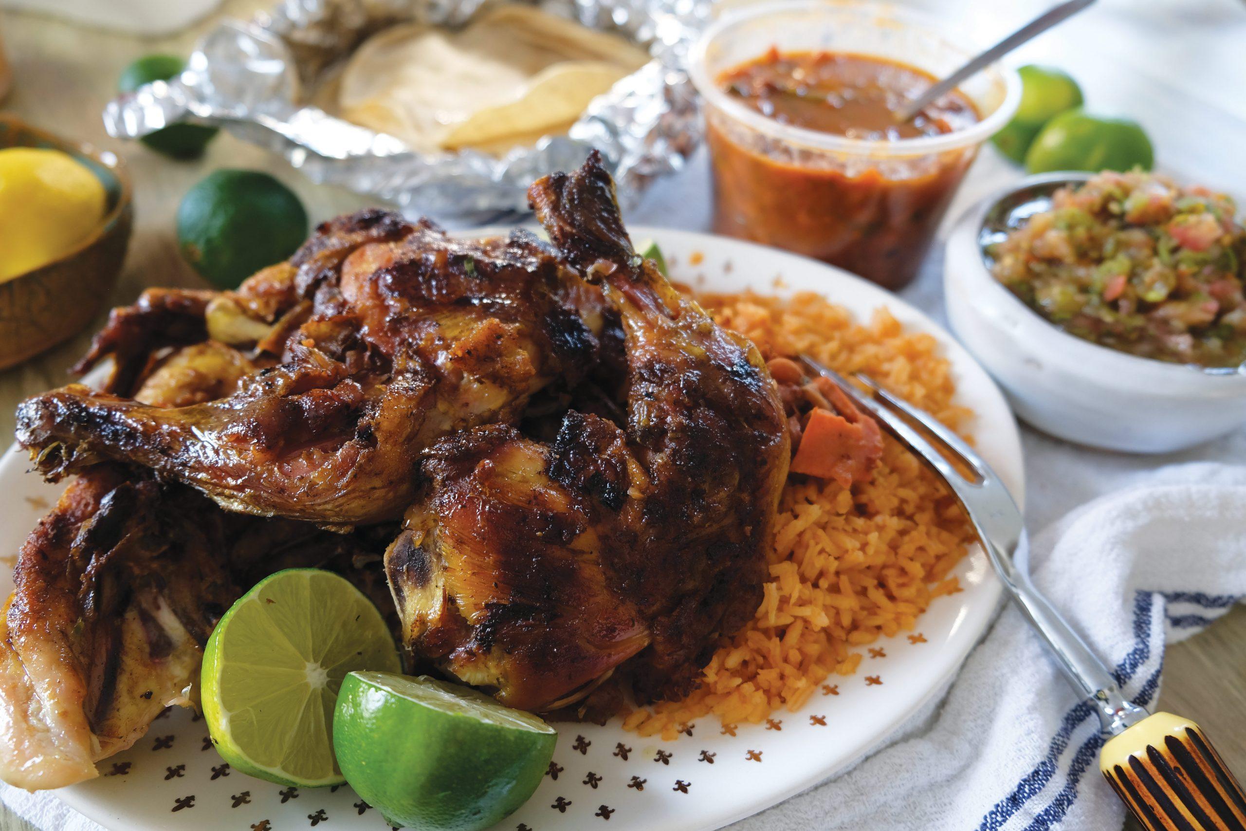 Chicken dinner from Mercado Y Carniceria Cuernavaca. Photo by Eric Cox