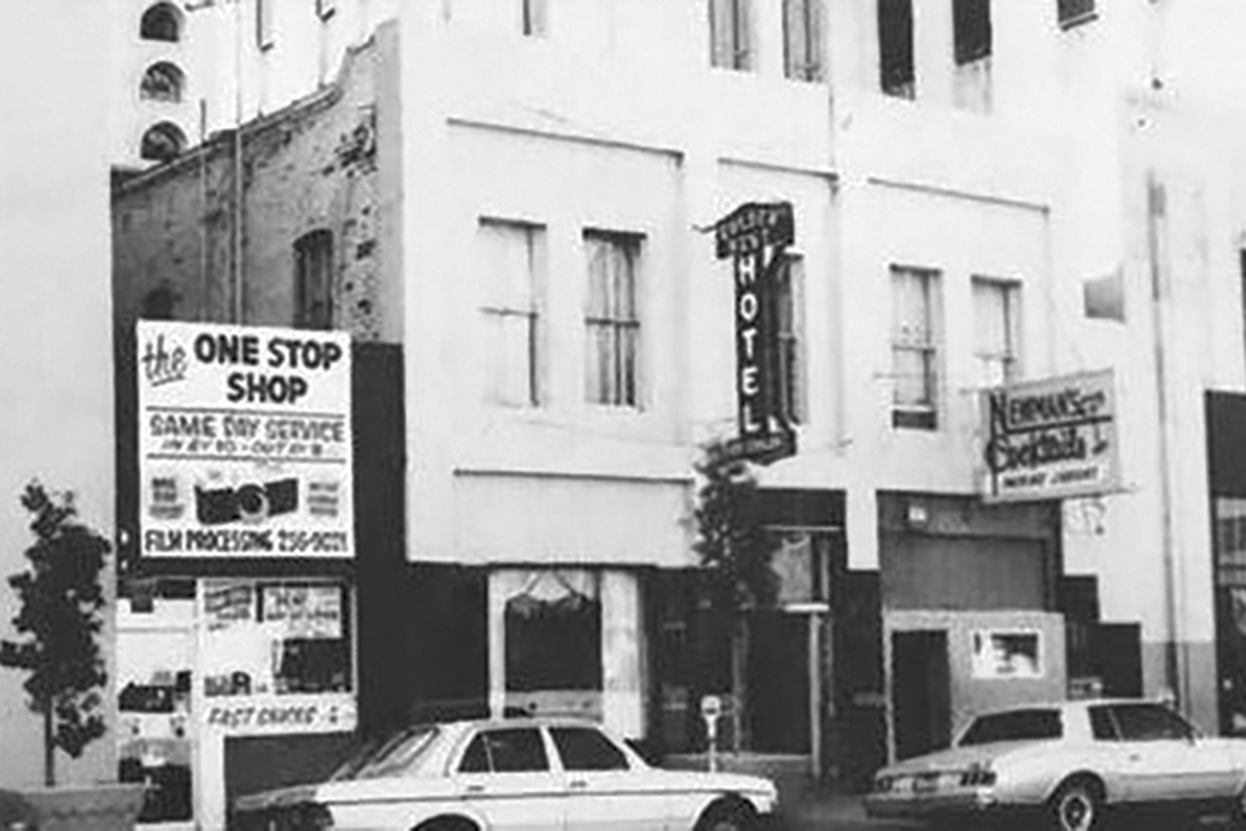 the building in the 1980s; Photo courtesy The Arizona Republic