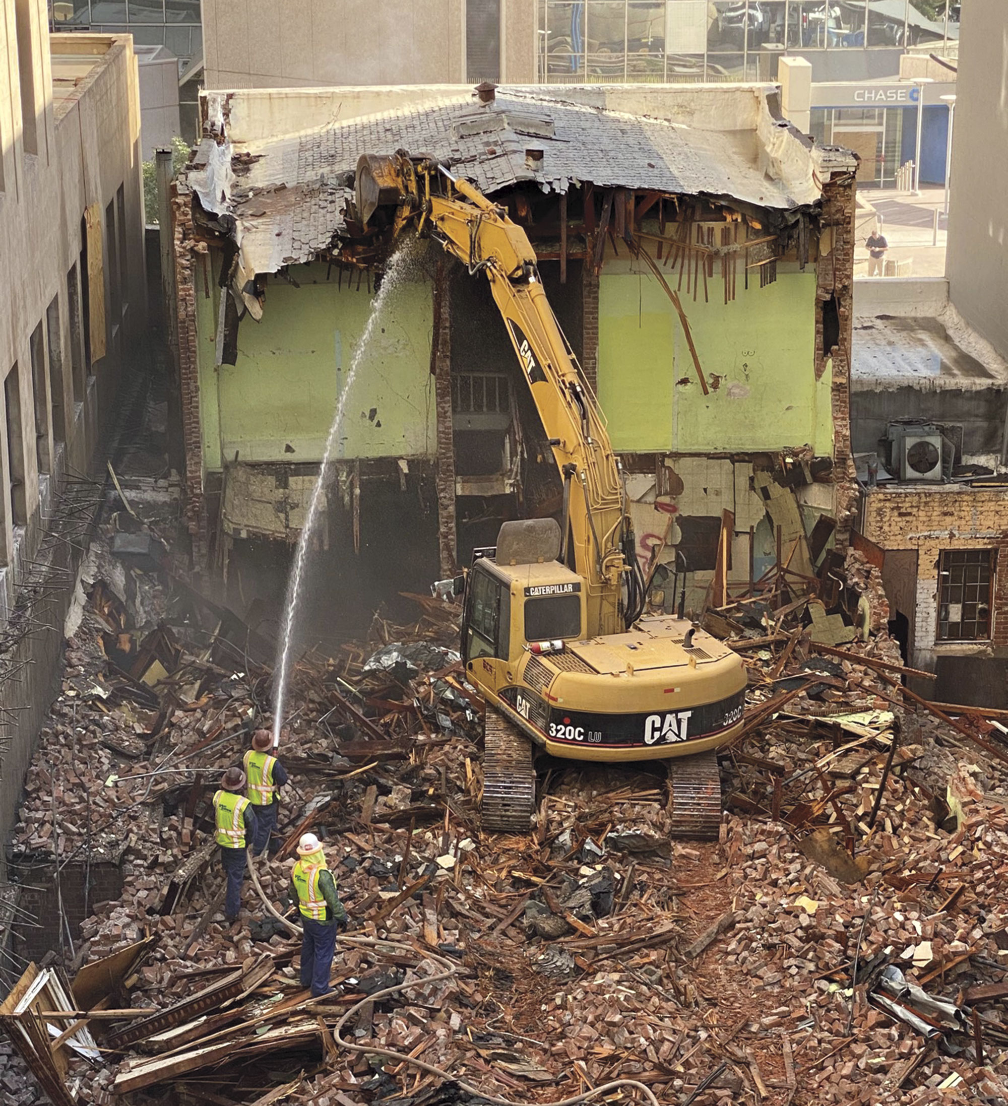 Demolition of the Steinegger Lodging House, 2020; Photo courtesy Preserve PHX