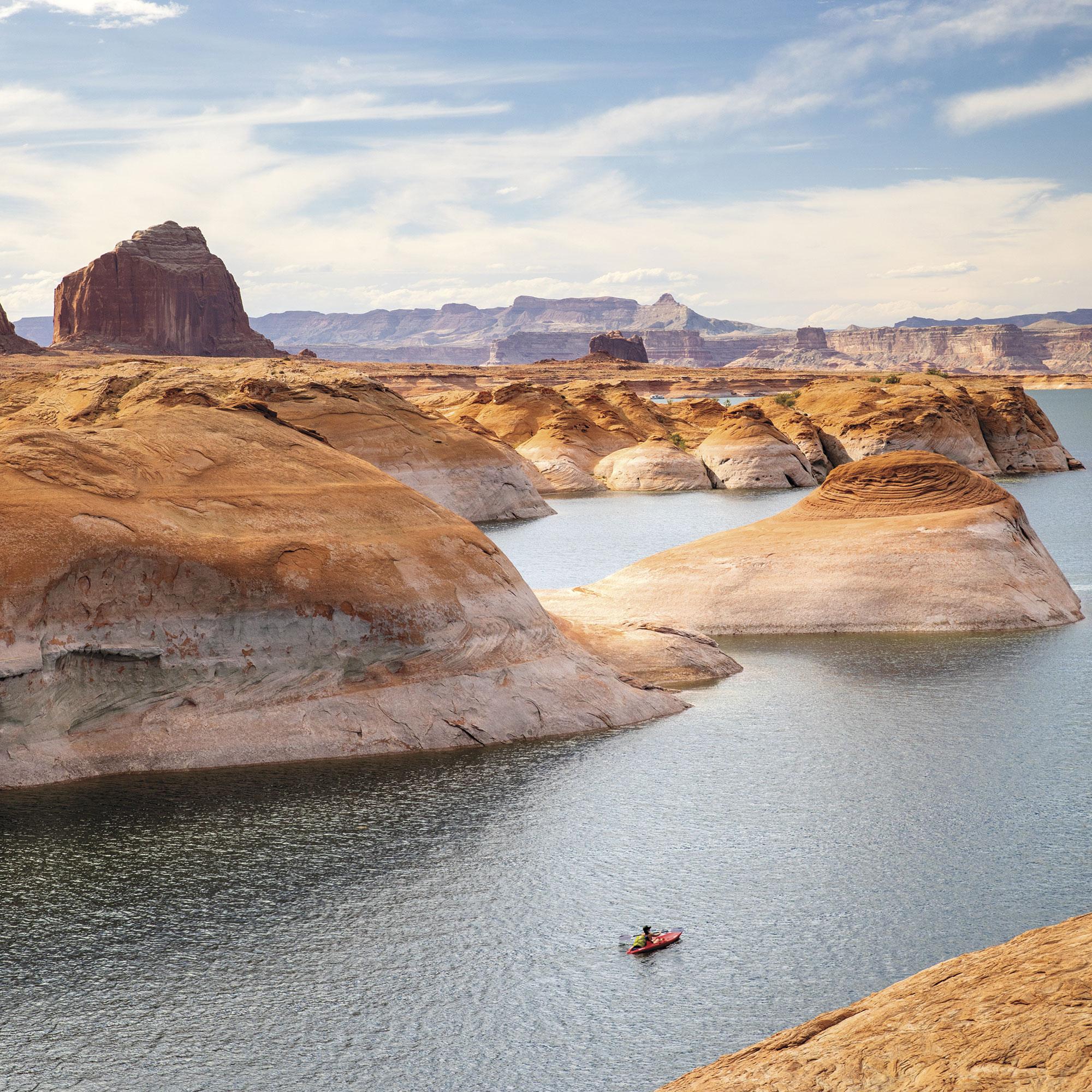 kayaking in Glen Canyon; Photo by Kevin Kaminski